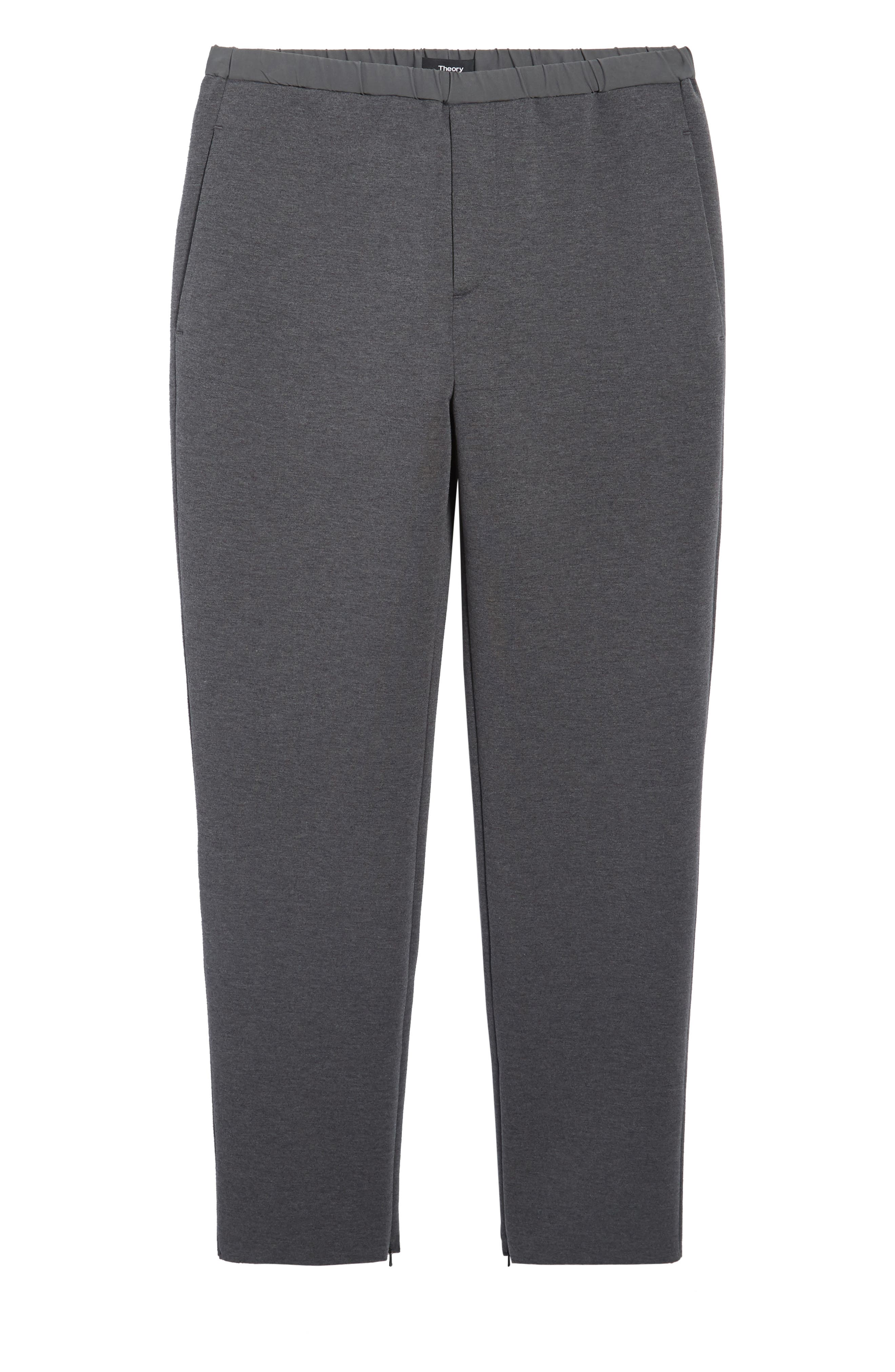 Knit Lounge Pants,                             Alternate thumbnail 6, color,                             Charcoal Heather