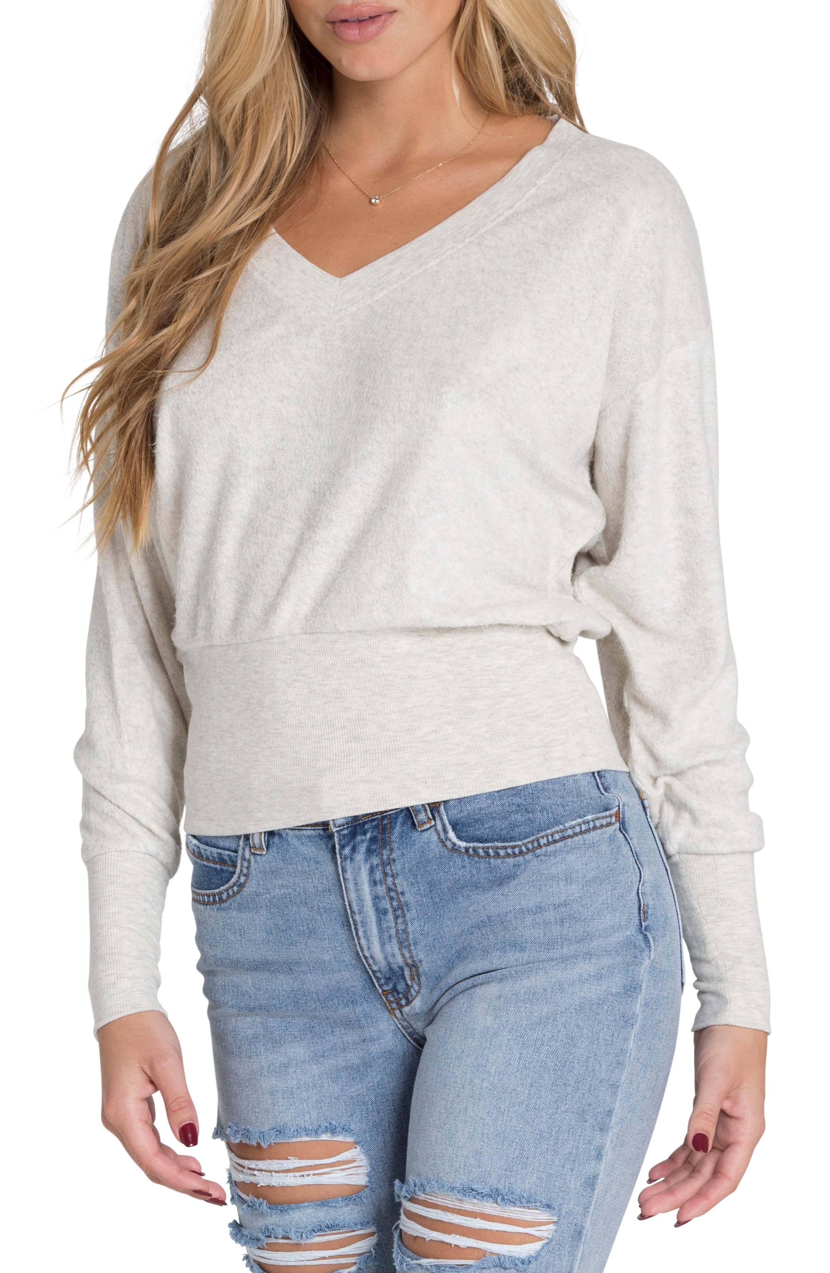 All I Need Sweater,                         Main,                         color, Ice Athletic Grey