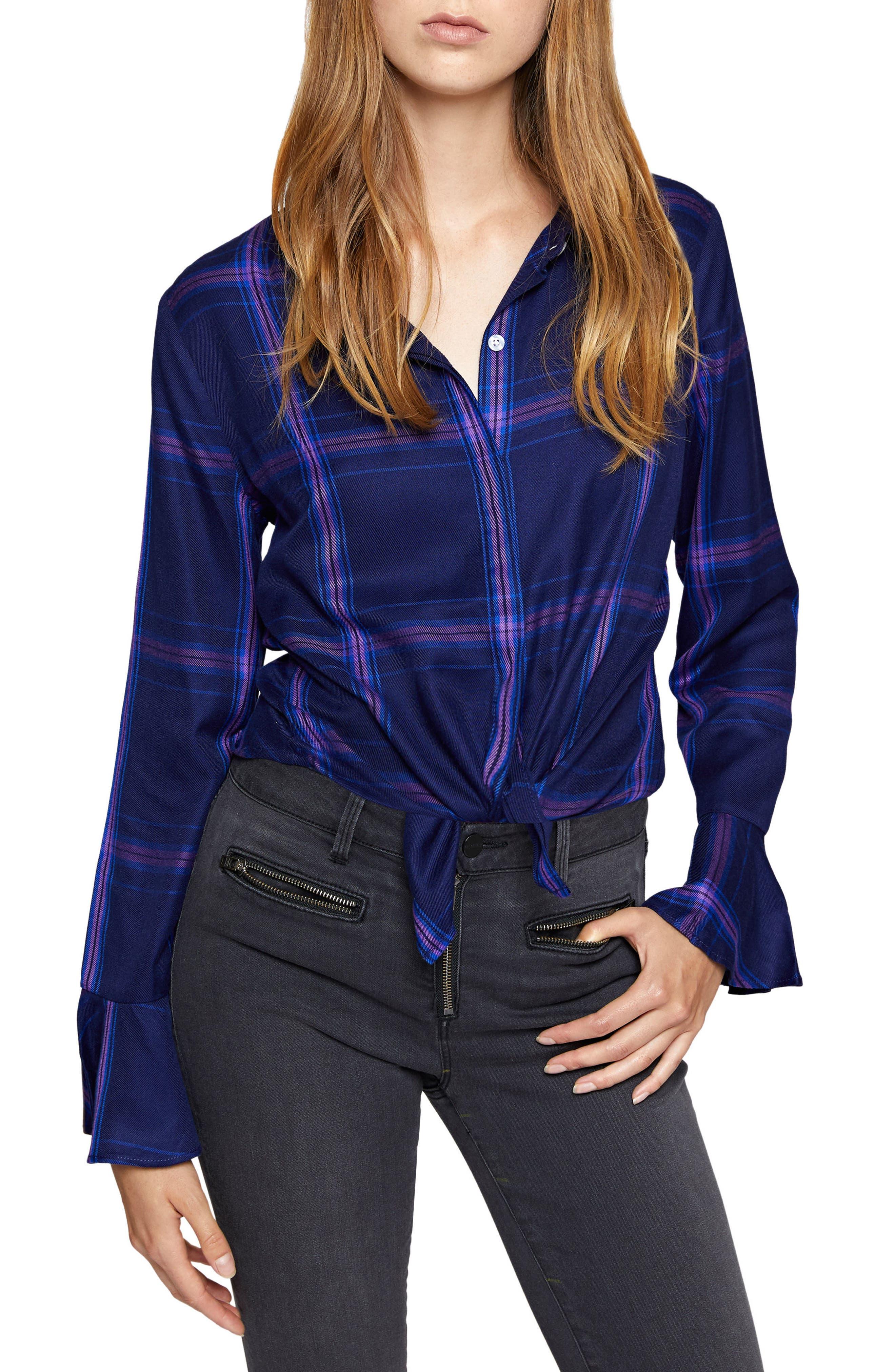 Nightscape Shirt,                         Main,                         color, Nocturne Plaid