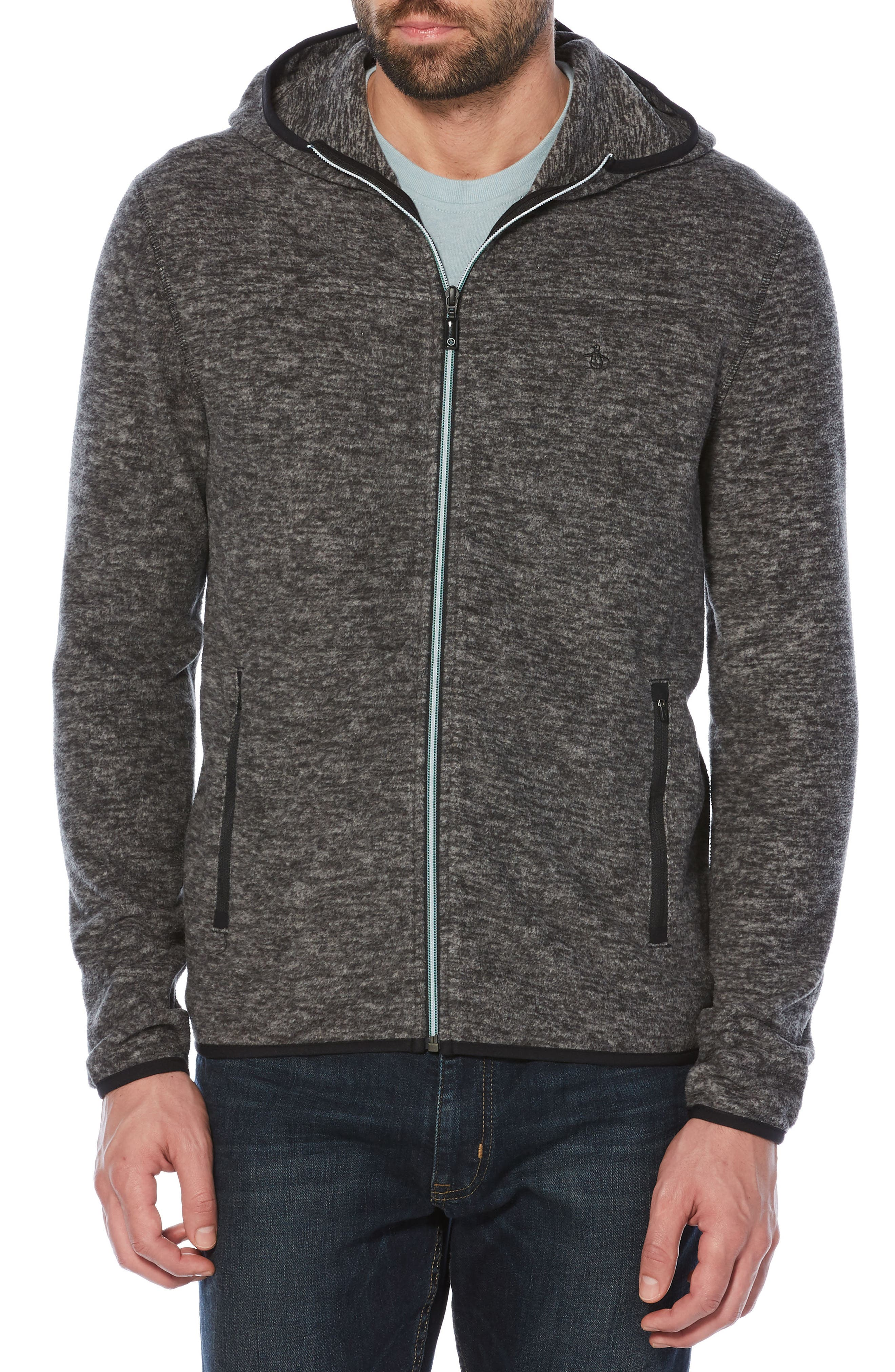 Original Penguin Zip Fleece Hoodie