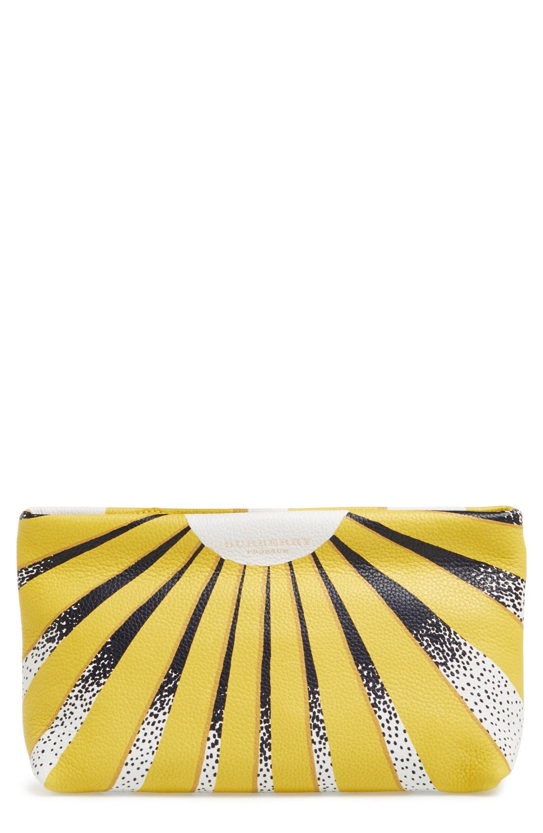 Main Image - Burberry Leather Clutch