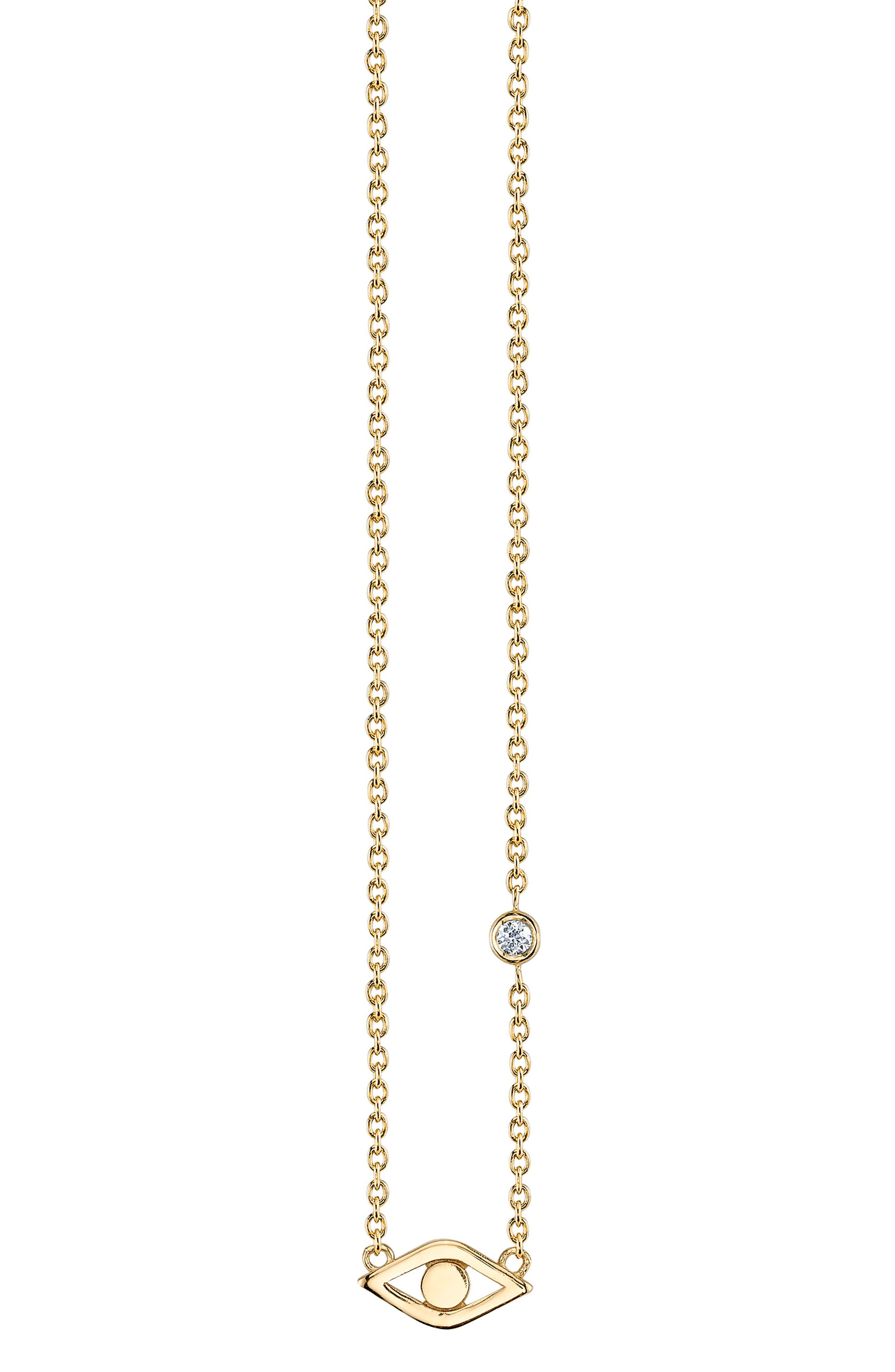 Evil Eye Pendant Necklace,                         Main,                         color, Gold