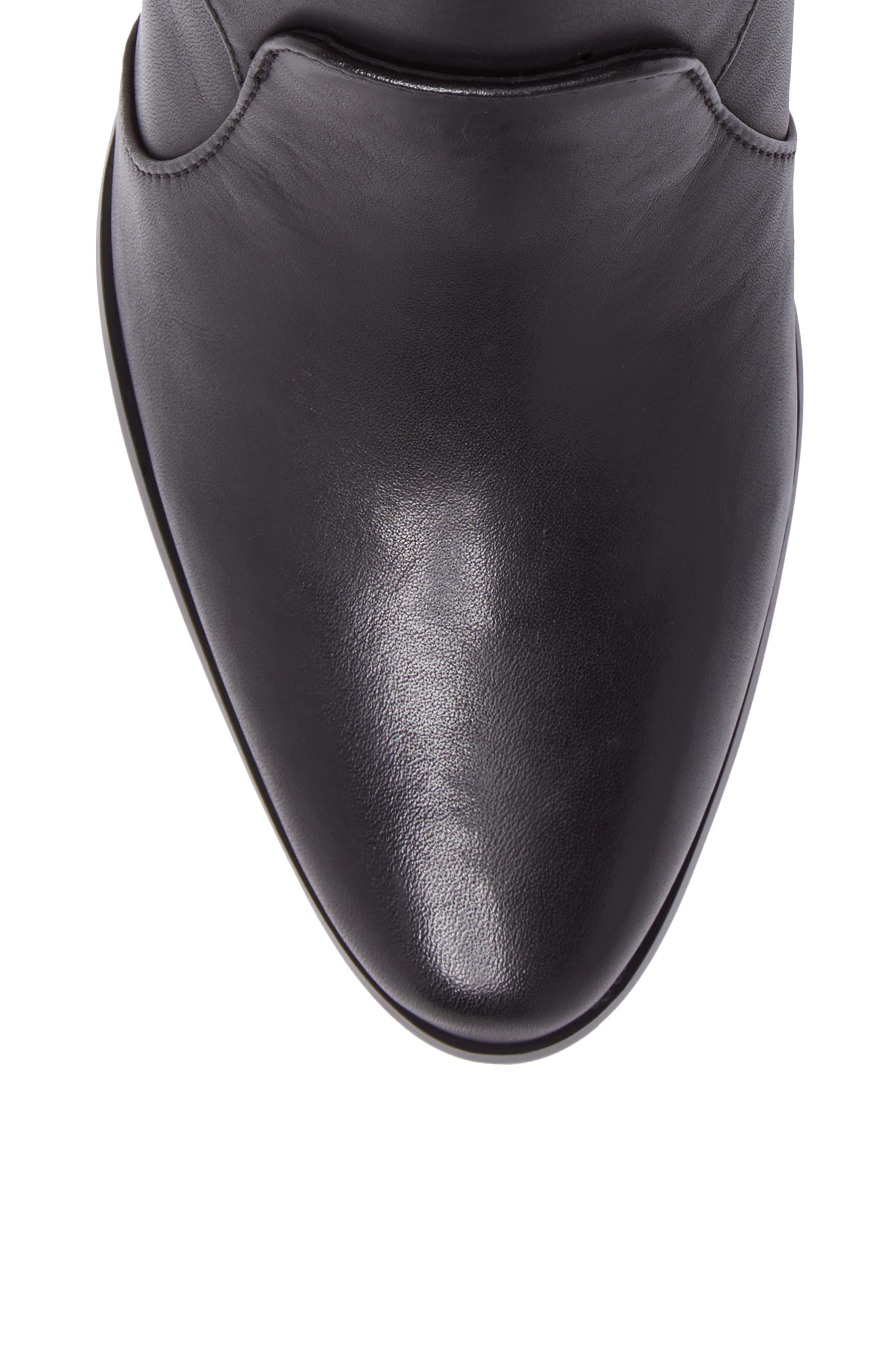Florine Bootie,                             Alternate thumbnail 5, color,                             Black Leather