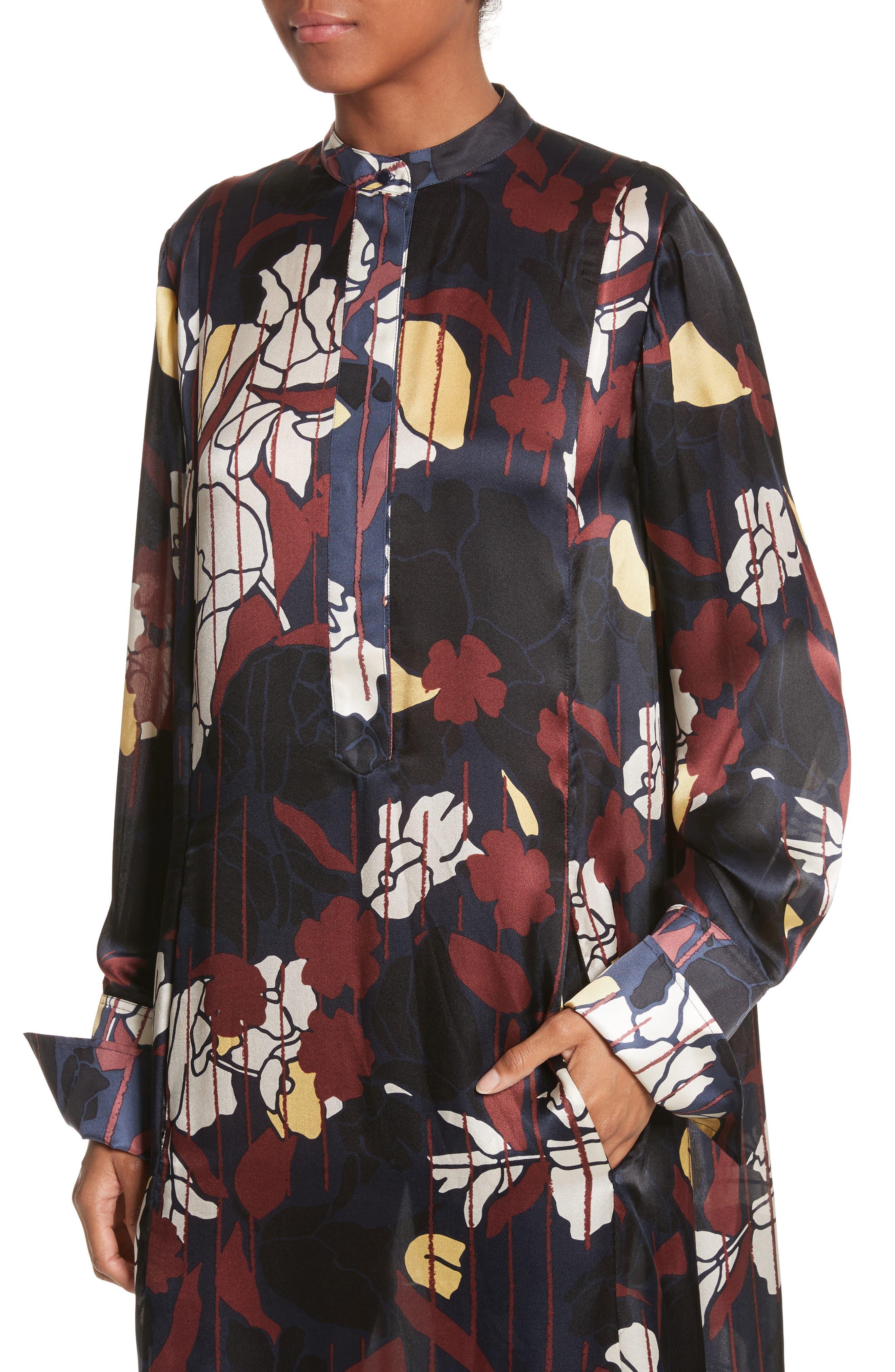 Alternate Image 5  - Roksanda Anwyn Floral Silk Dress