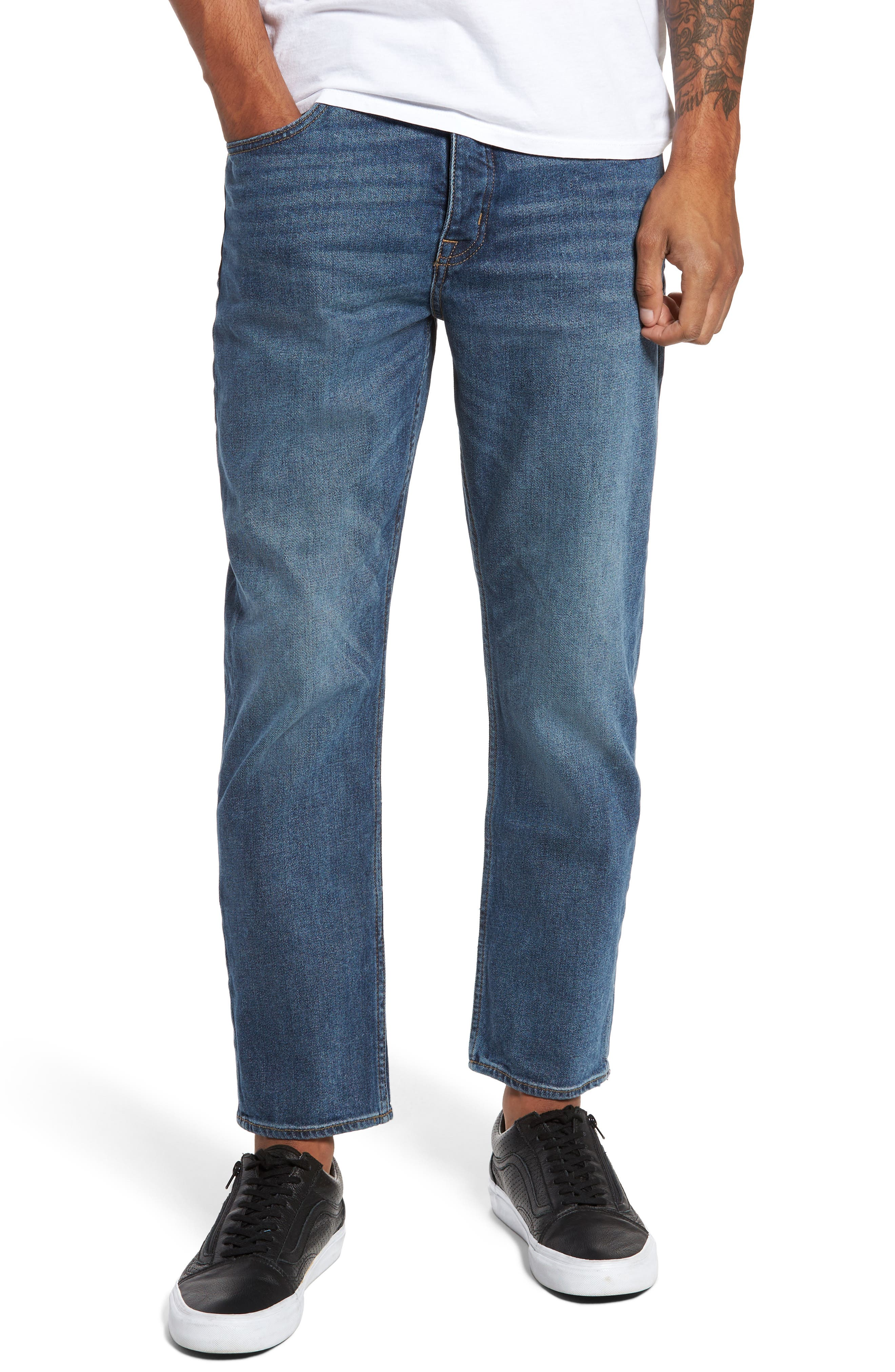 Cheap Monday In Law Crop Relaxed Fit Jeans (Daily Blue)