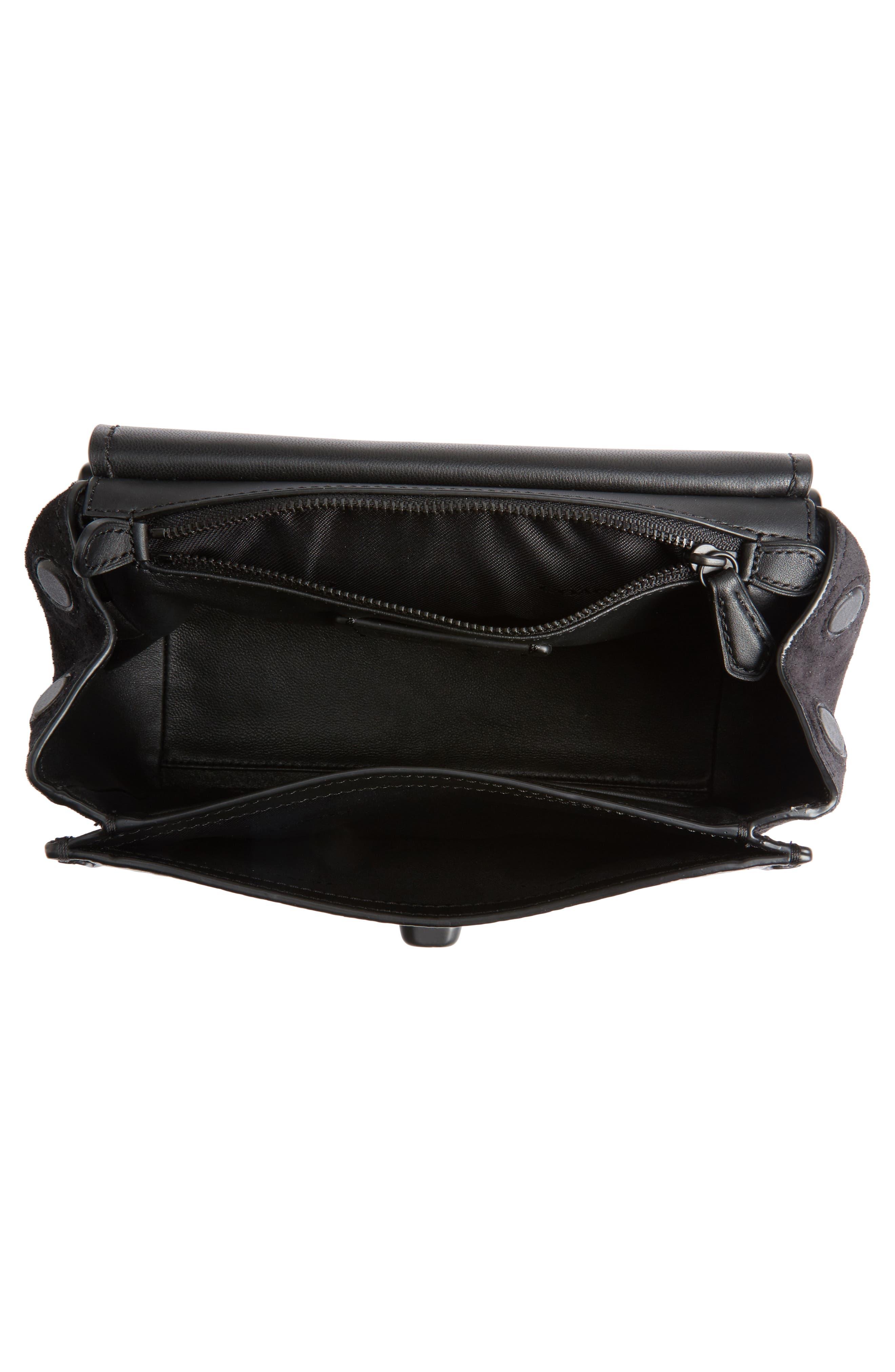 Alternate Image 3  - COACH Mixed Leather Crossbody Bag
