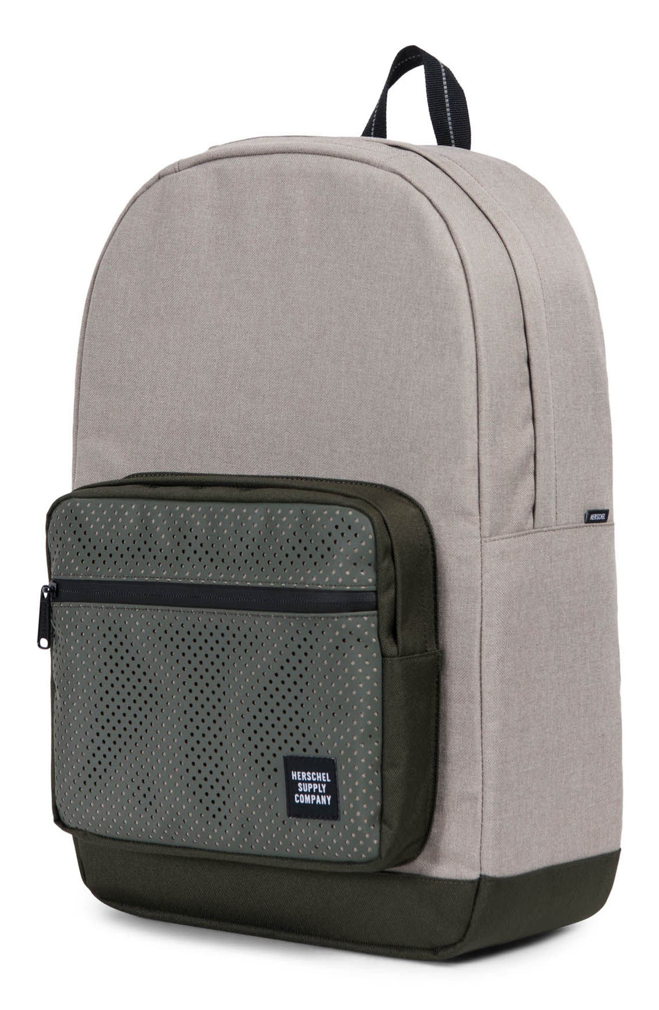 Pop Quiz Aspect Backpack,                             Alternate thumbnail 4, color,                             Khaki Crosshatch/ Forest Night