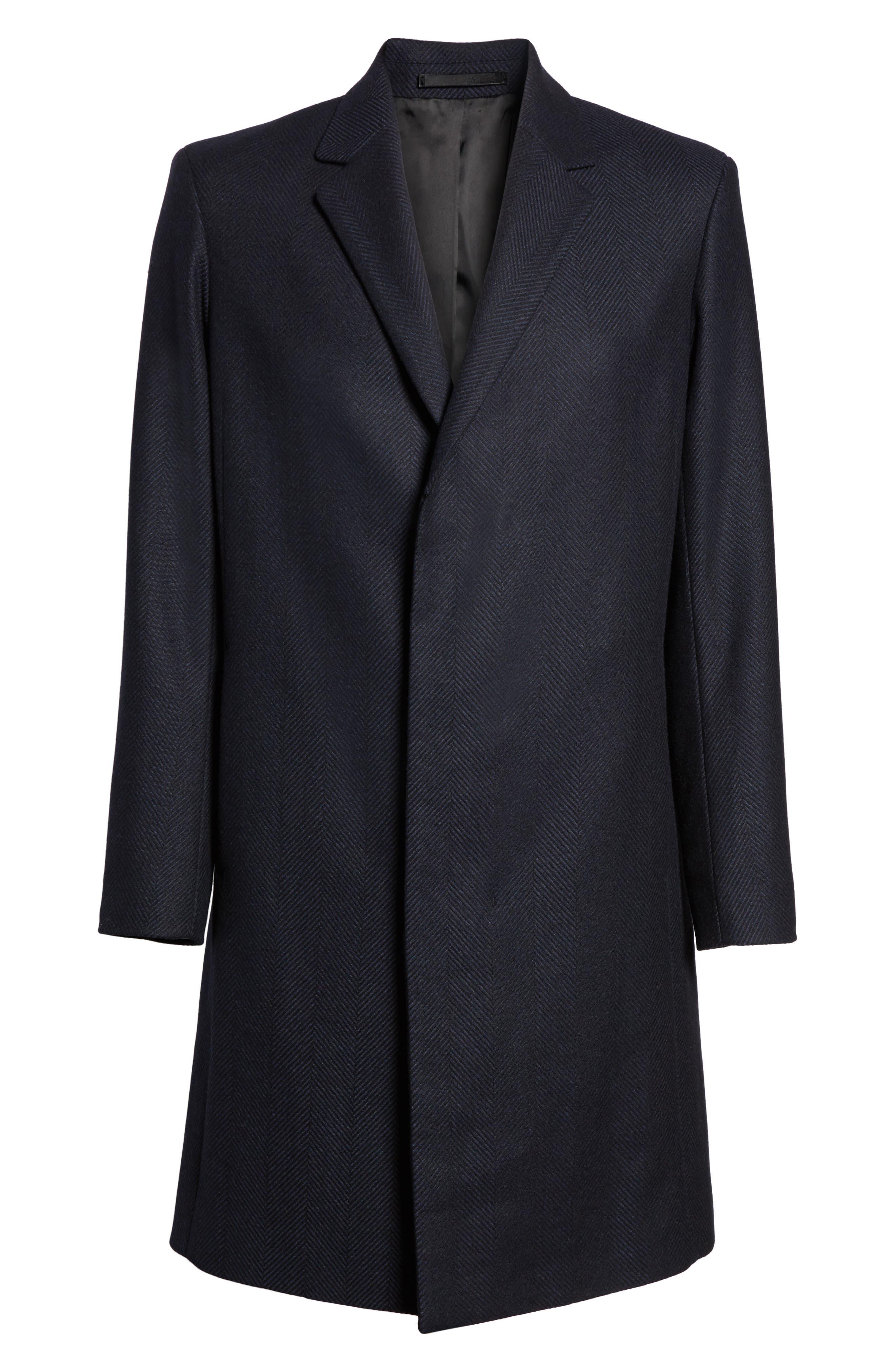 Bower Herringbone Wool Blend Topcoat,                             Alternate thumbnail 6, color,                             Liberty Multi