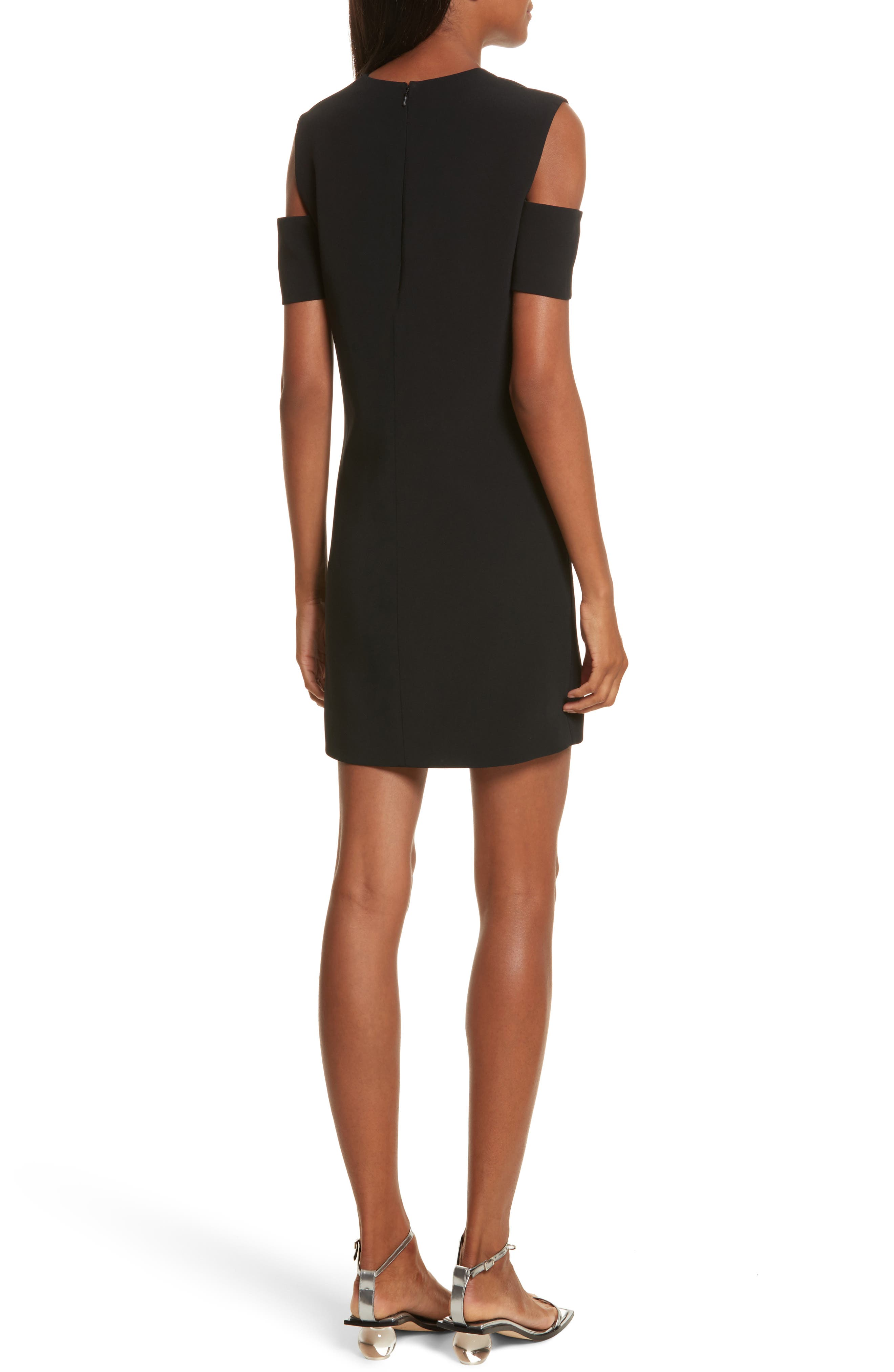 Alternate Image 2  - Helmut Lang Cold Shoulder Shift Dress