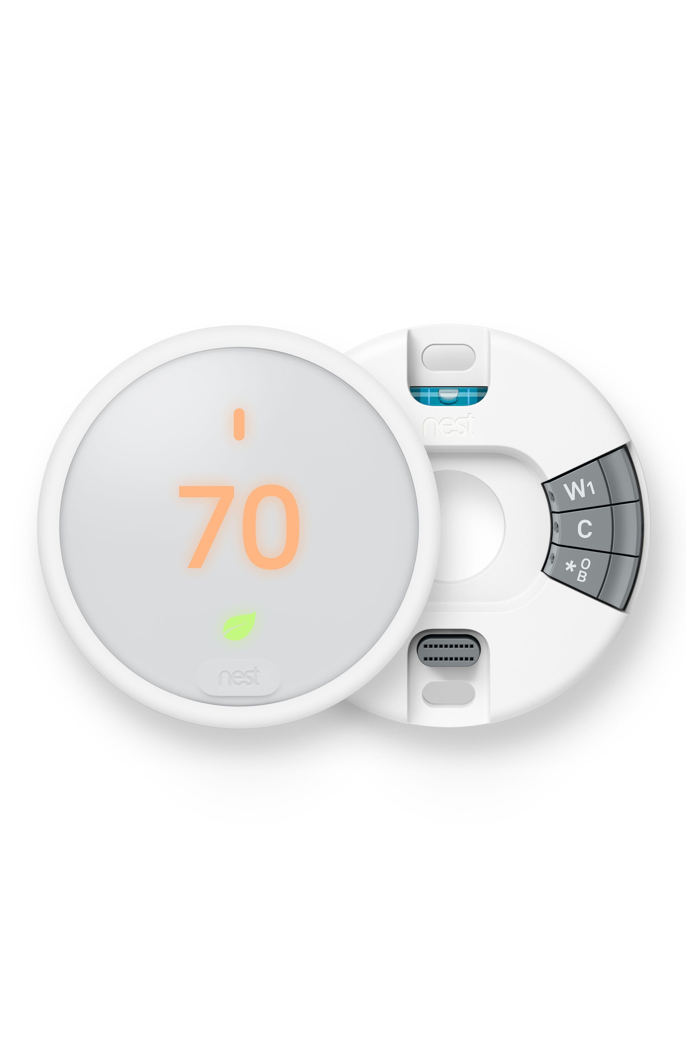 Thermostat E,                             Alternate thumbnail 4, color,                             White