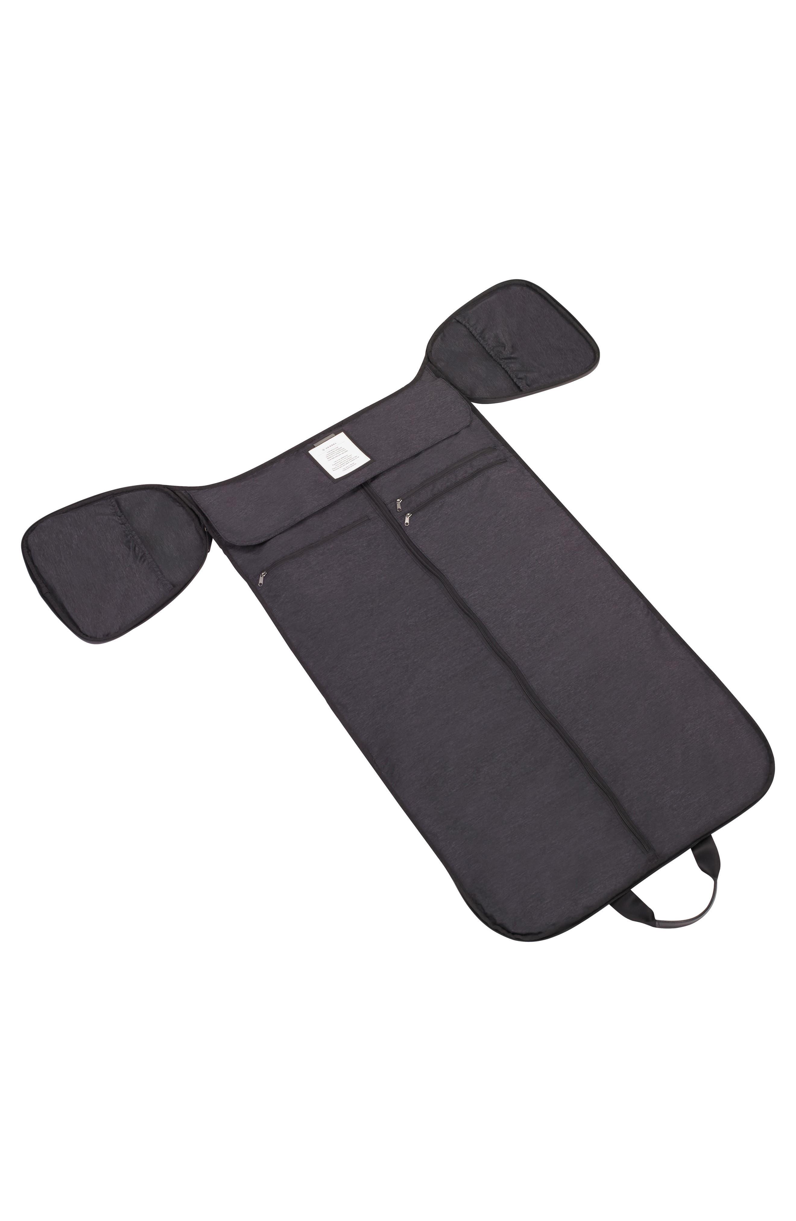Canvas Garment Duffel Bag,                             Alternate thumbnail 4, color,                             Black
