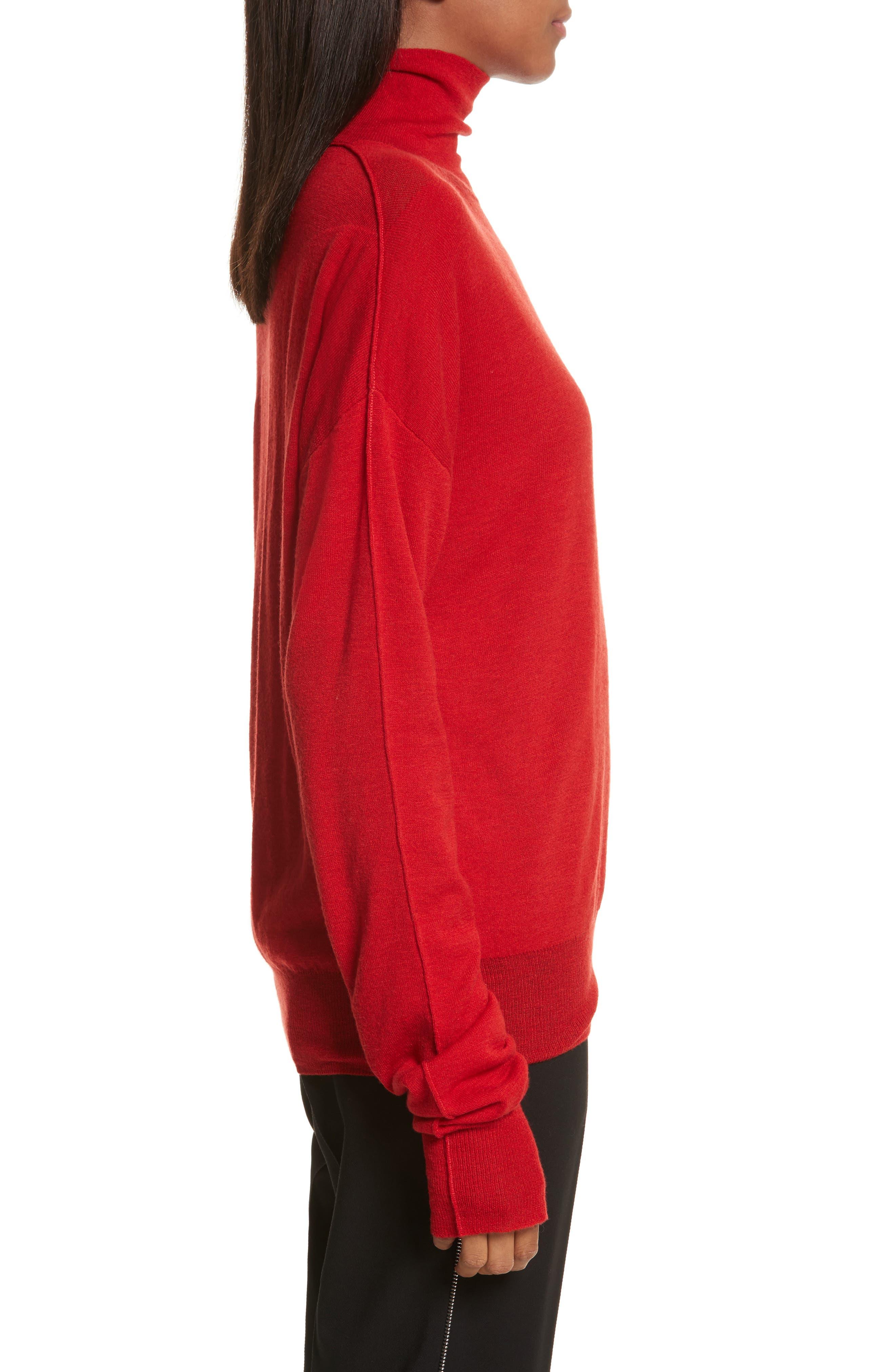 Alternate Image 3  - Helmut Lang Sheer Panel Wool & Silk Turtleneck Sweater