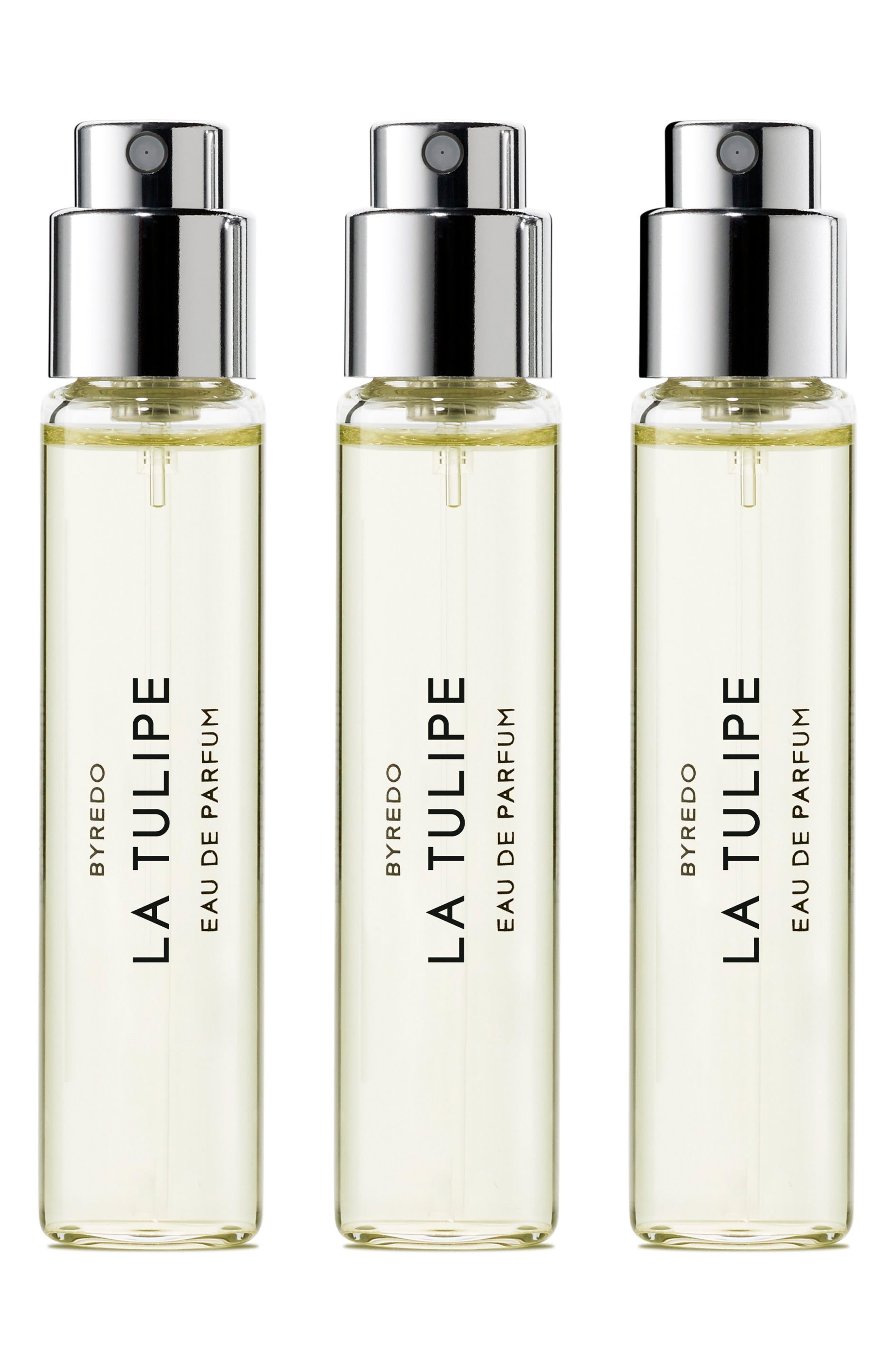 La Tulipe Eau de Parfum Travel Spray Trio,                         Main,                         color, No Color