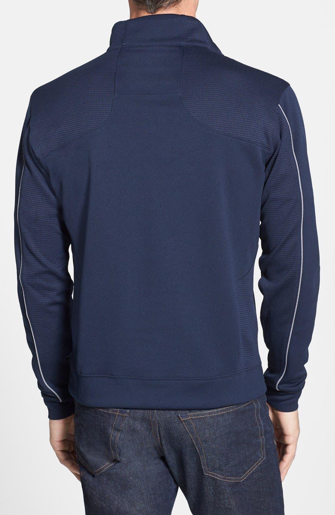 Tennessee Titans - Edge DryTec Moisture Wicking Half Zip Pullover,                             Alternate thumbnail 2, color,                             Navy Blue