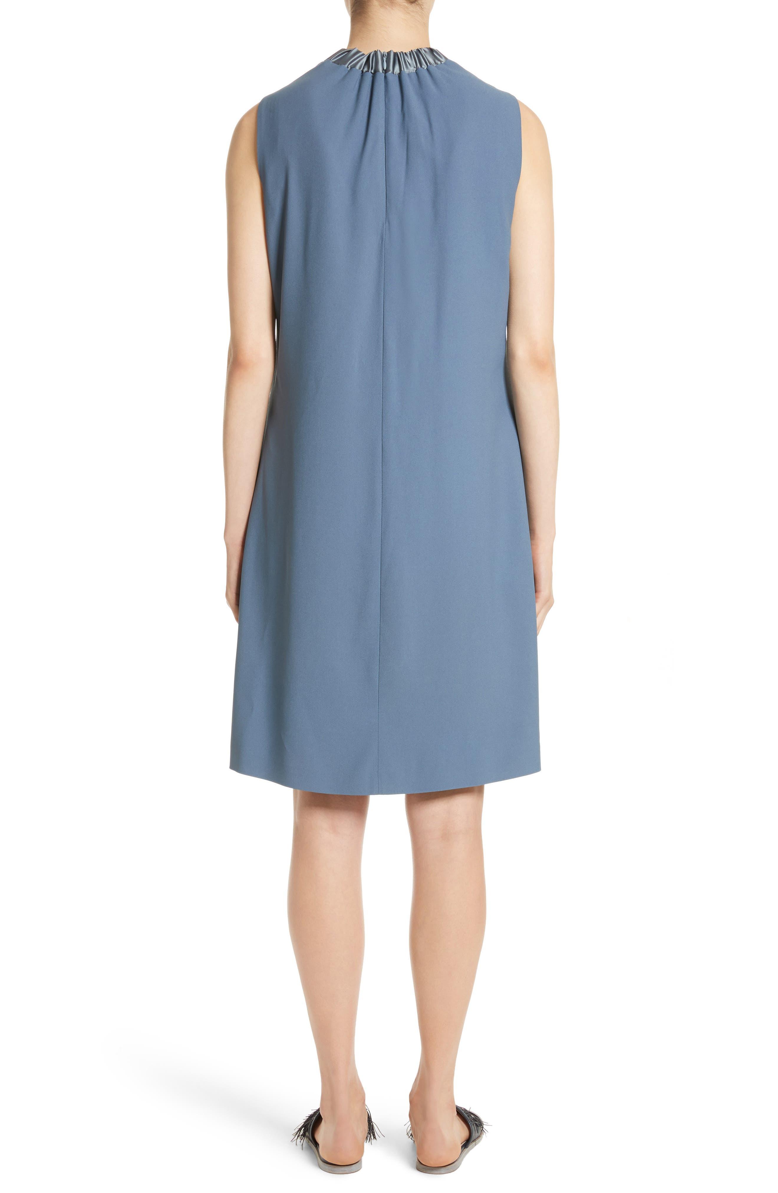 Alternate Image 2  - Fabiana Filippi Satin Trim Crepe Dress