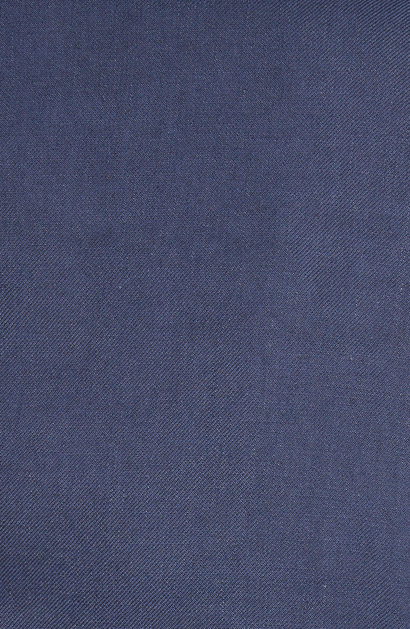 Piped Linen & Cotton Blend Blazer,                             Alternate thumbnail 6, color,                             Navy