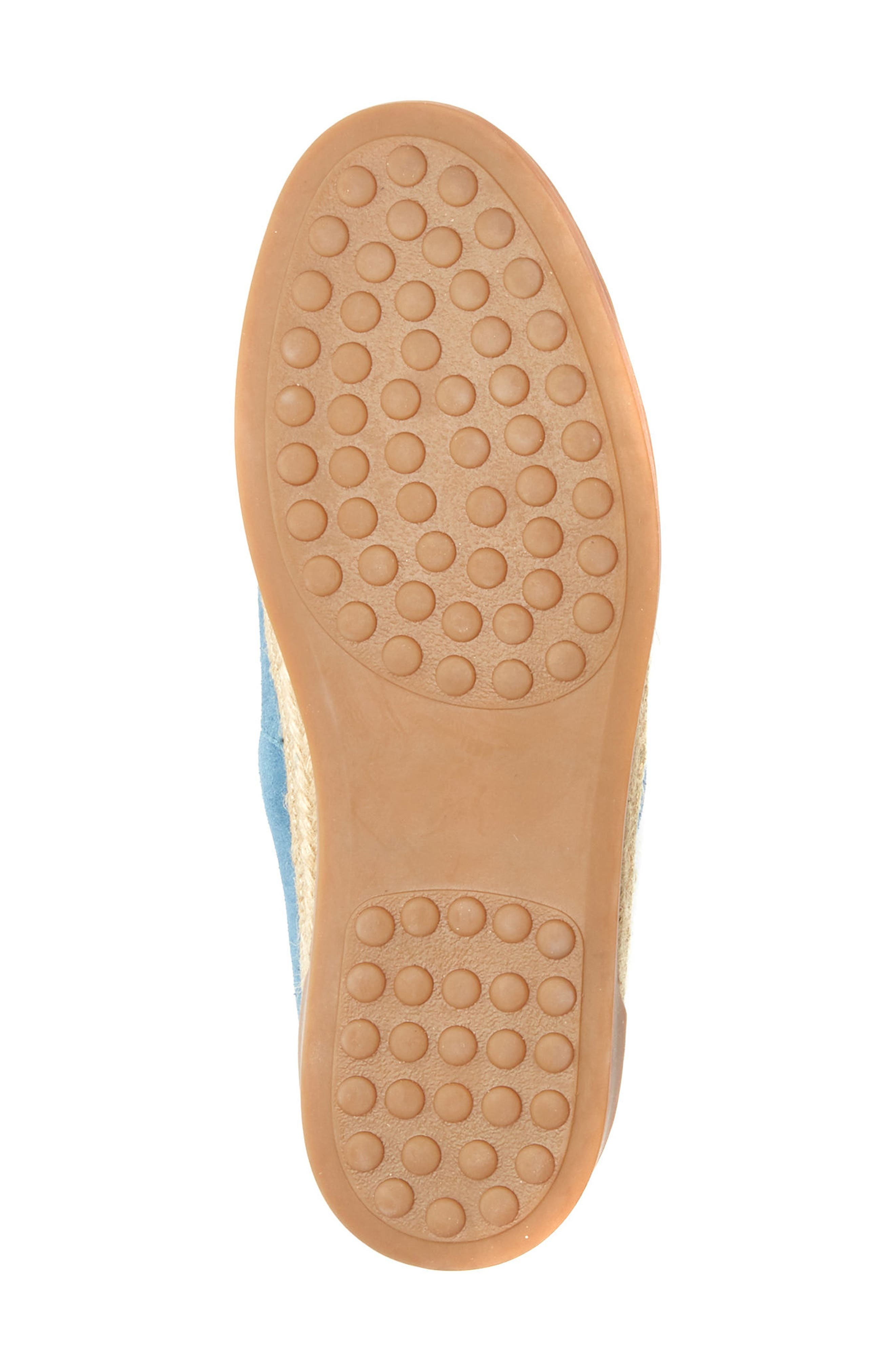 Bailey Espadrille Flat,                             Alternate thumbnail 6, color,                             Blue Suede
