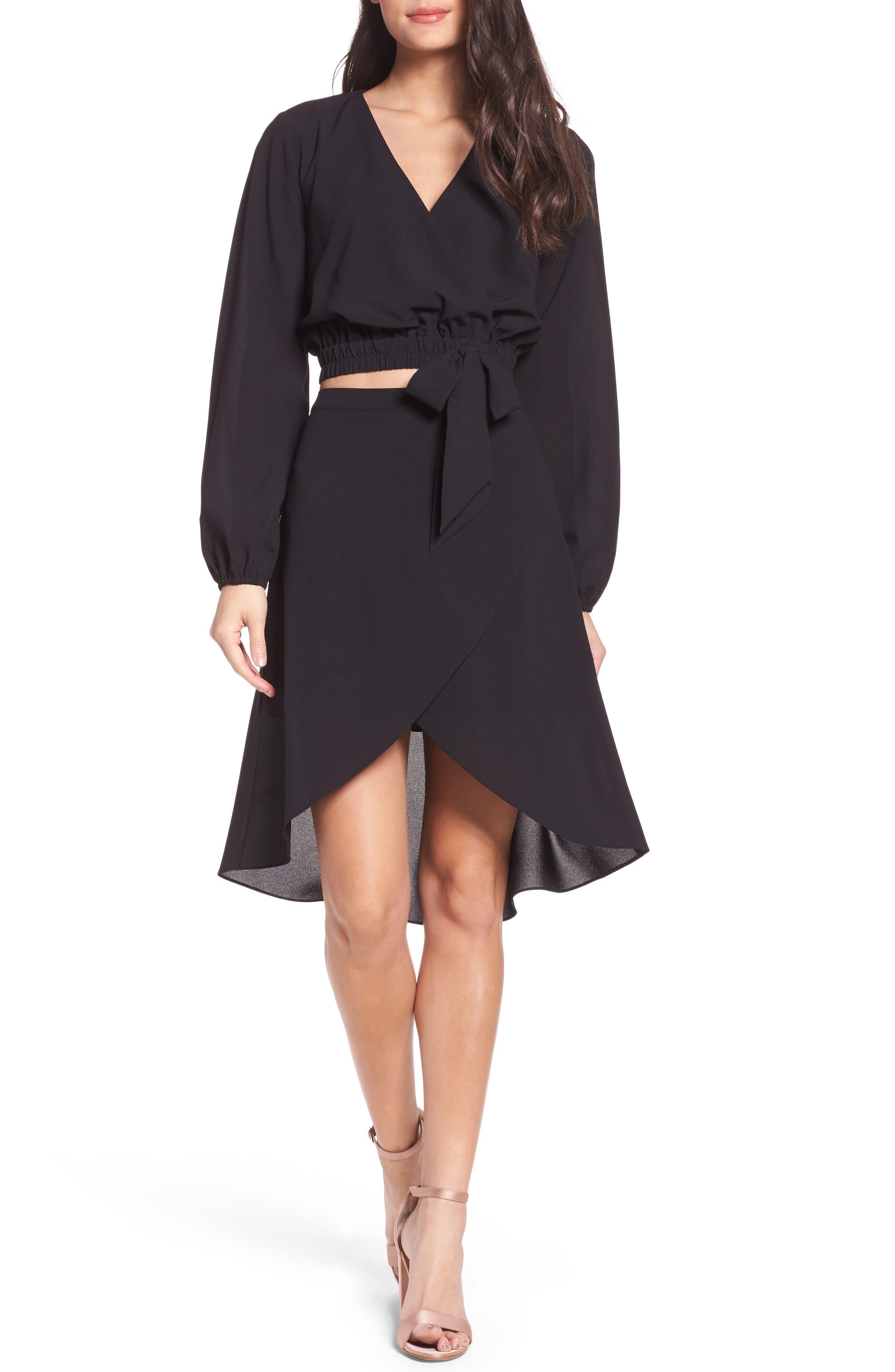 St. Tropez Two-Piece Dress,                         Main,                         color, Black