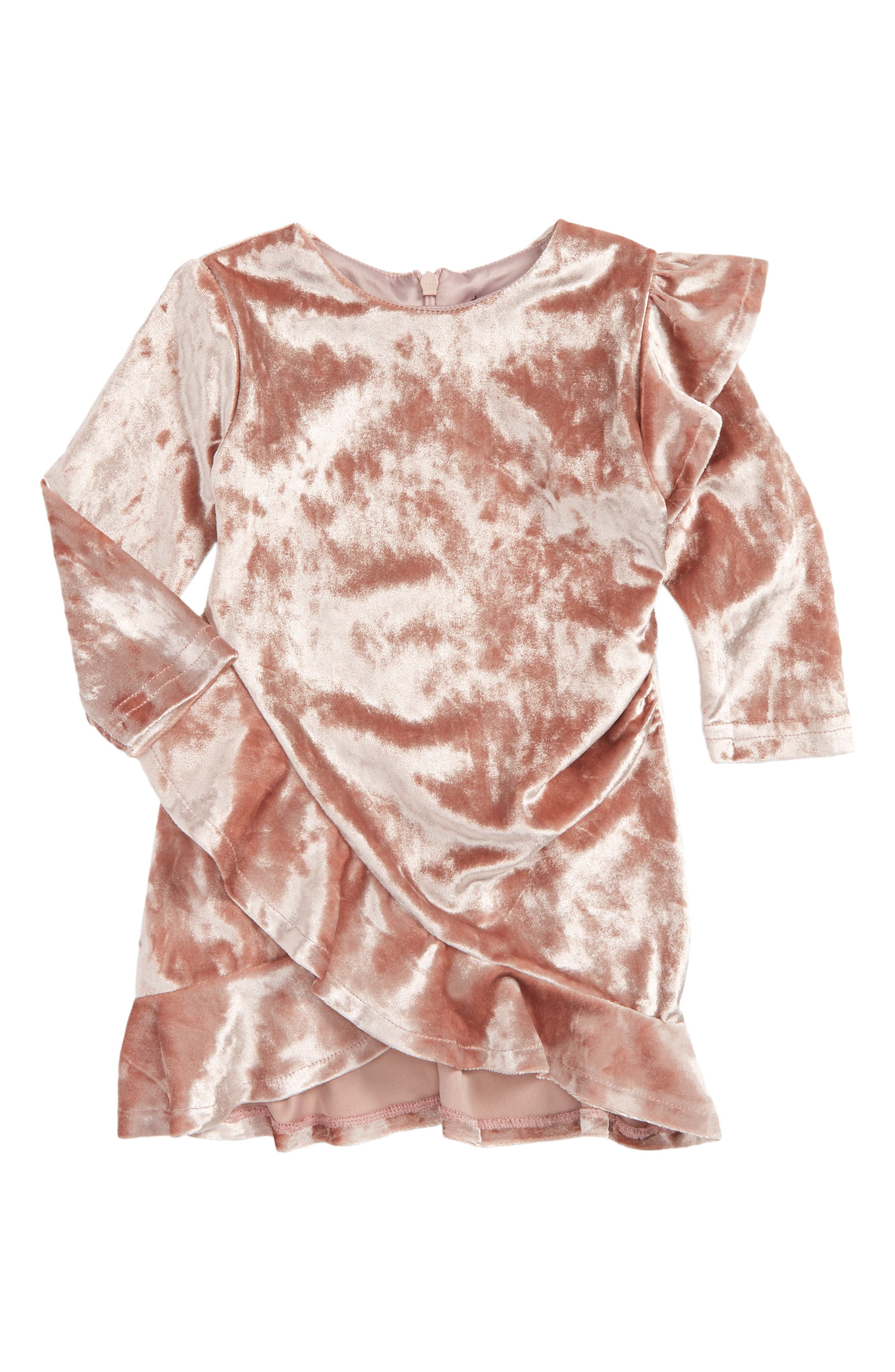 Velour Dress,                         Main,                         color, Pink