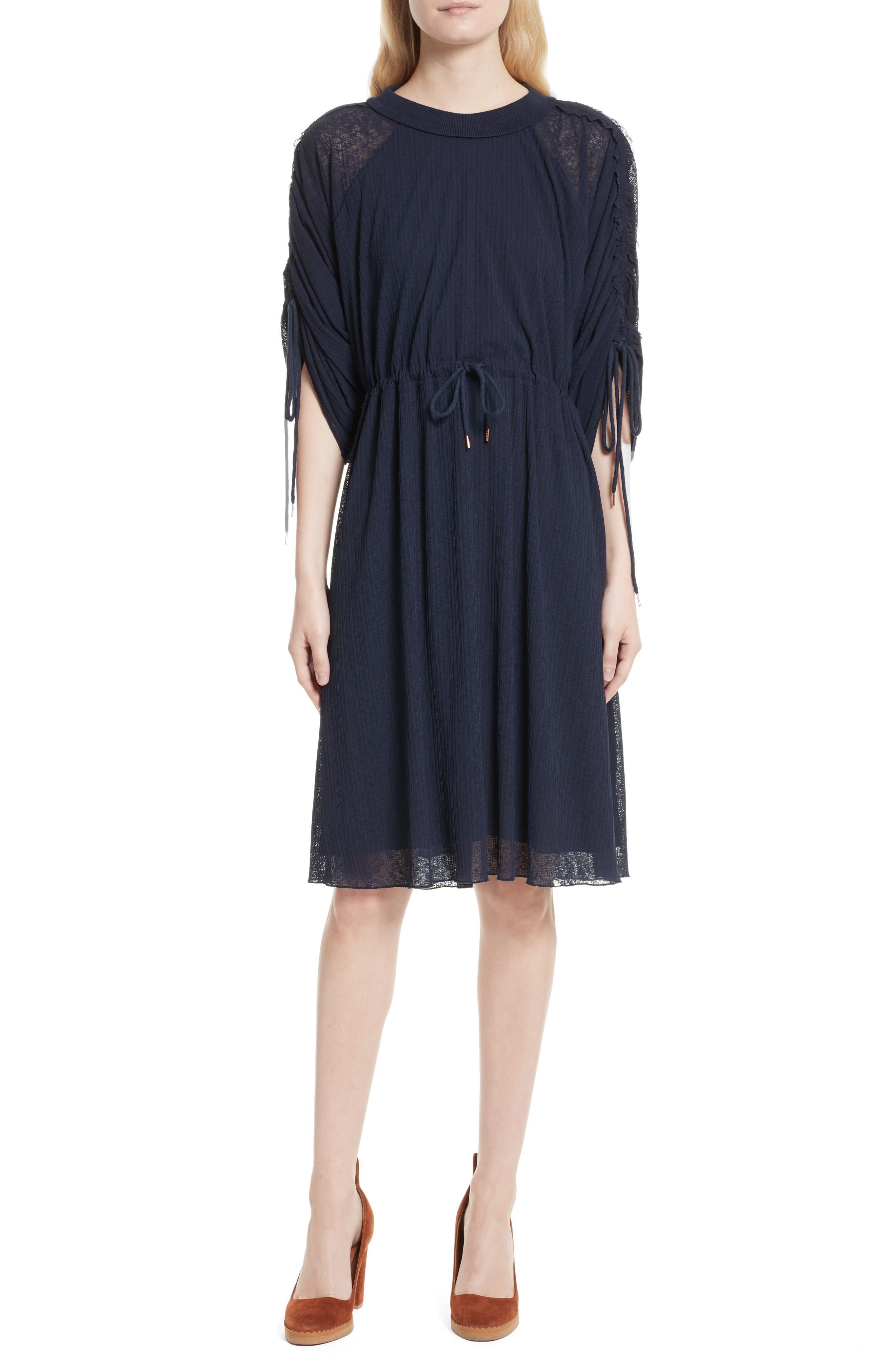 Knit Raglan Dress,                         Main,                         color, Ultramarine
