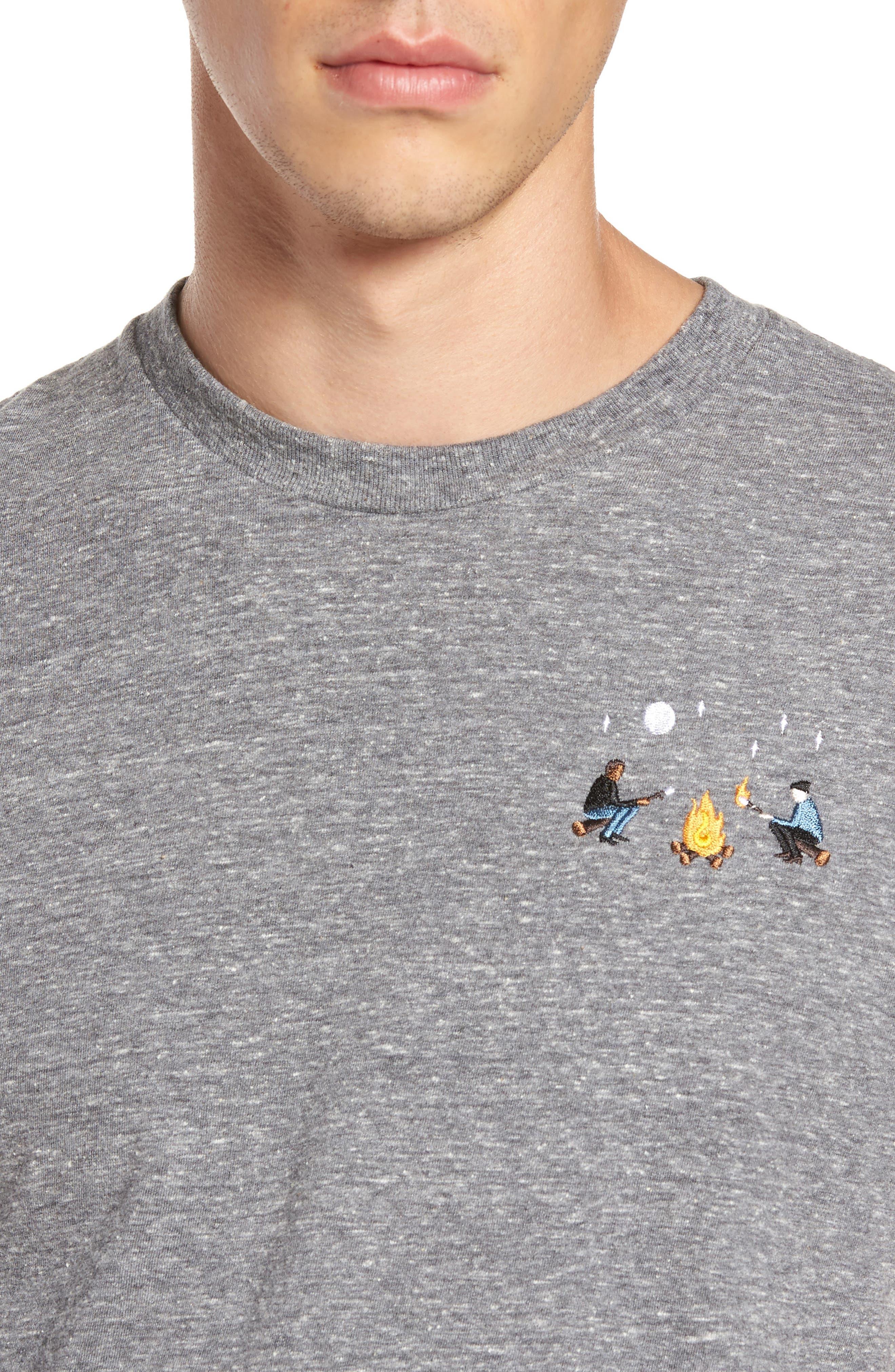 Burning Marshmallows T-Shirt,                             Alternate thumbnail 4, color,                             Triblend Grey