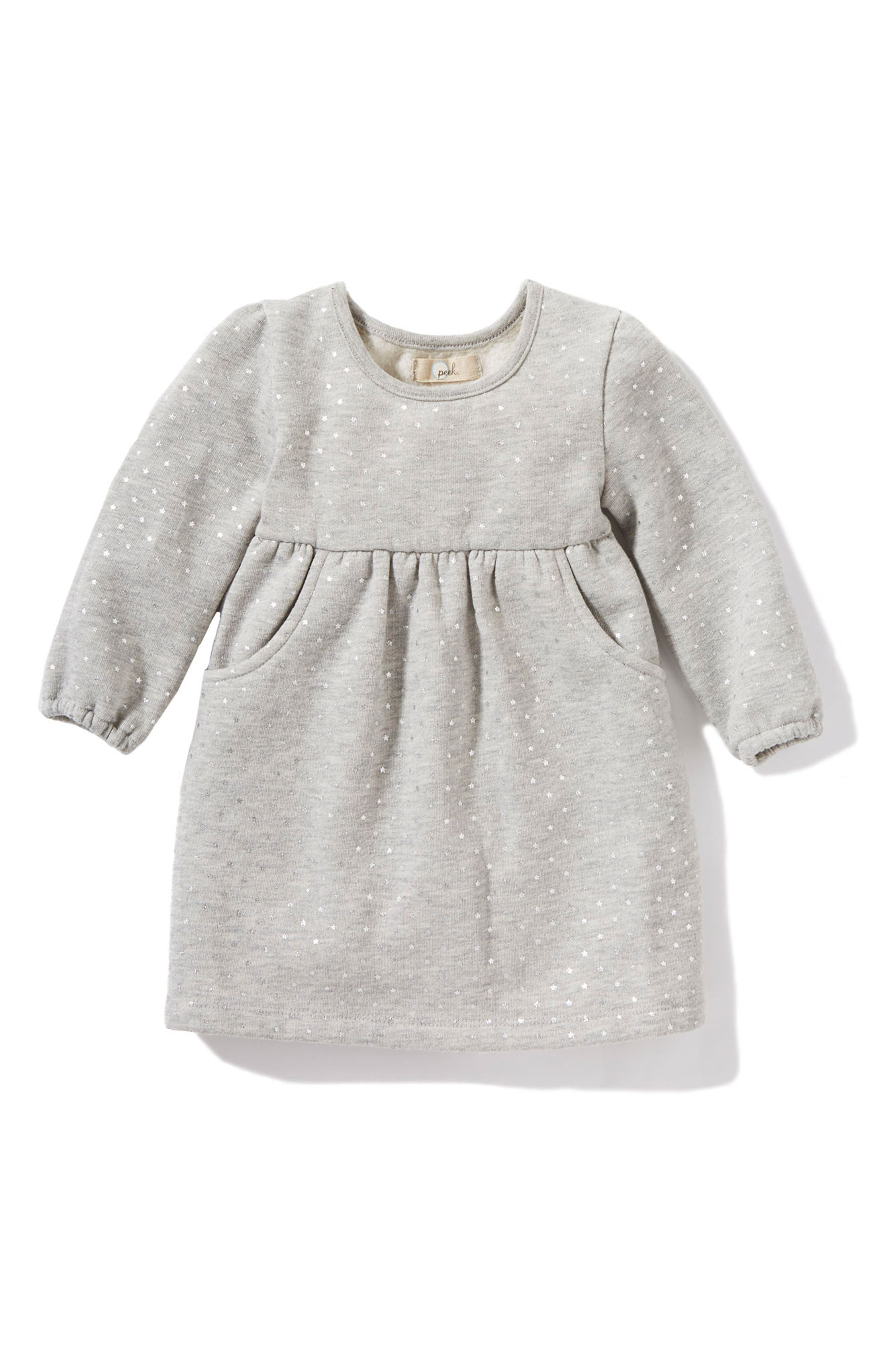 Alternate Image 1 Selected - Peek Star Dress (Baby Girls)