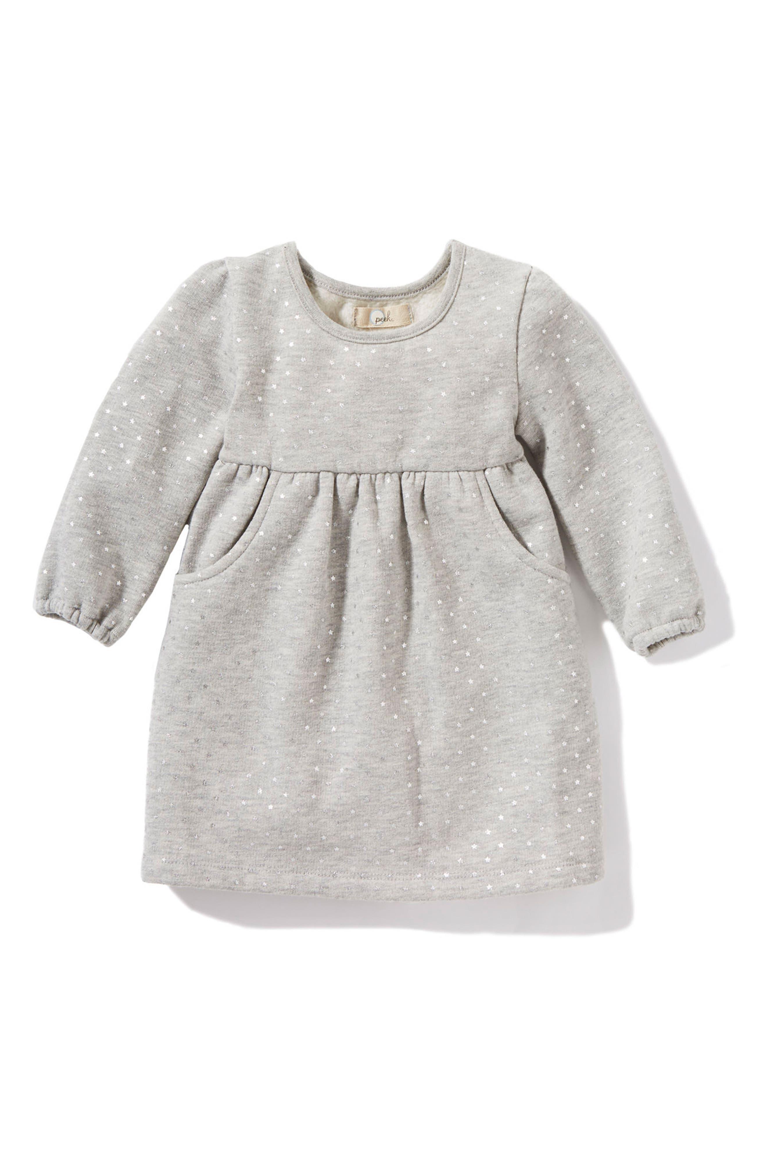 Main Image - Peek Star Dress (Baby Girls)
