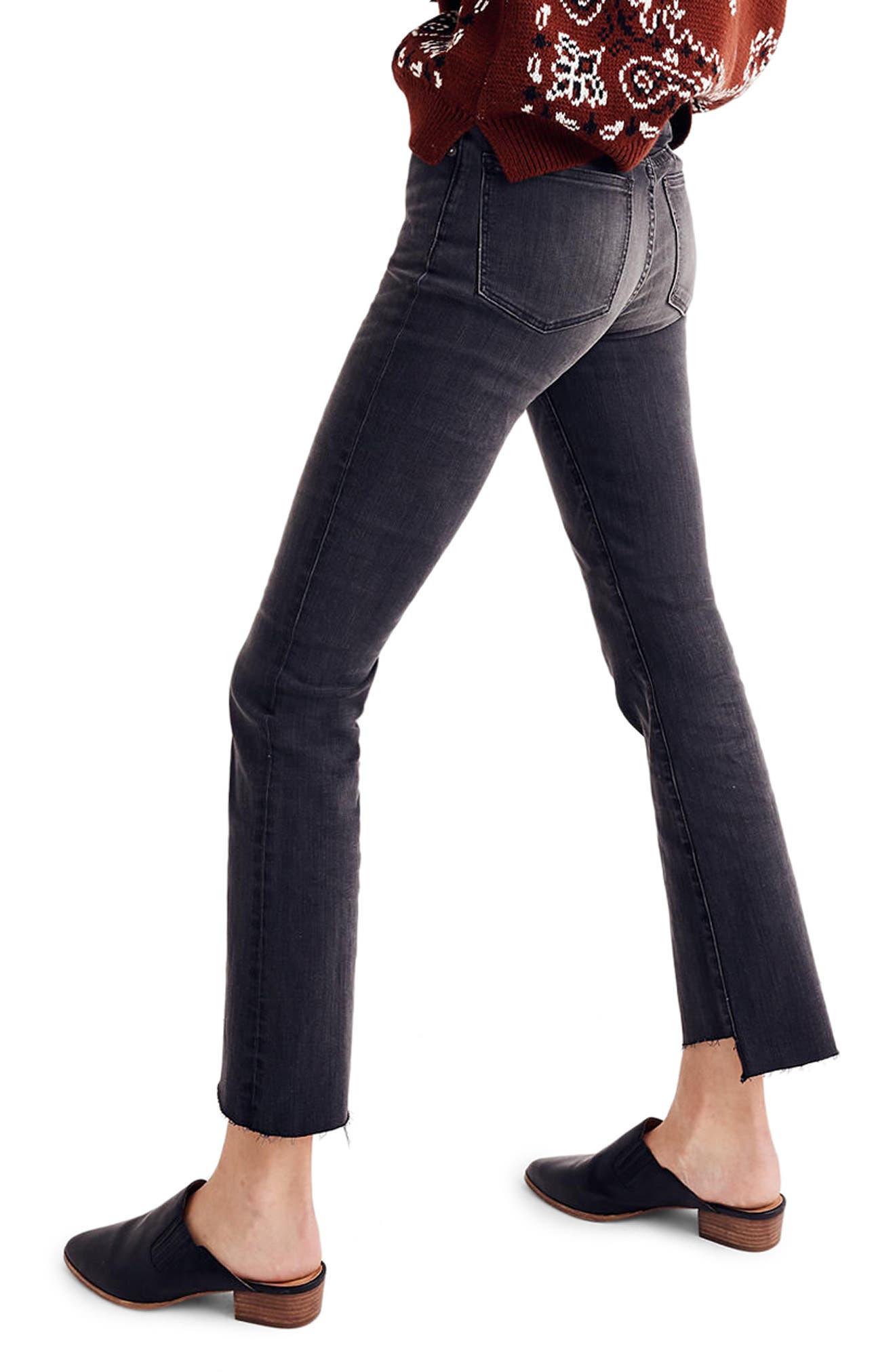 Cali Demi Bootcut Crop Jeans,                             Alternate thumbnail 2, color,                             Woodston Wash