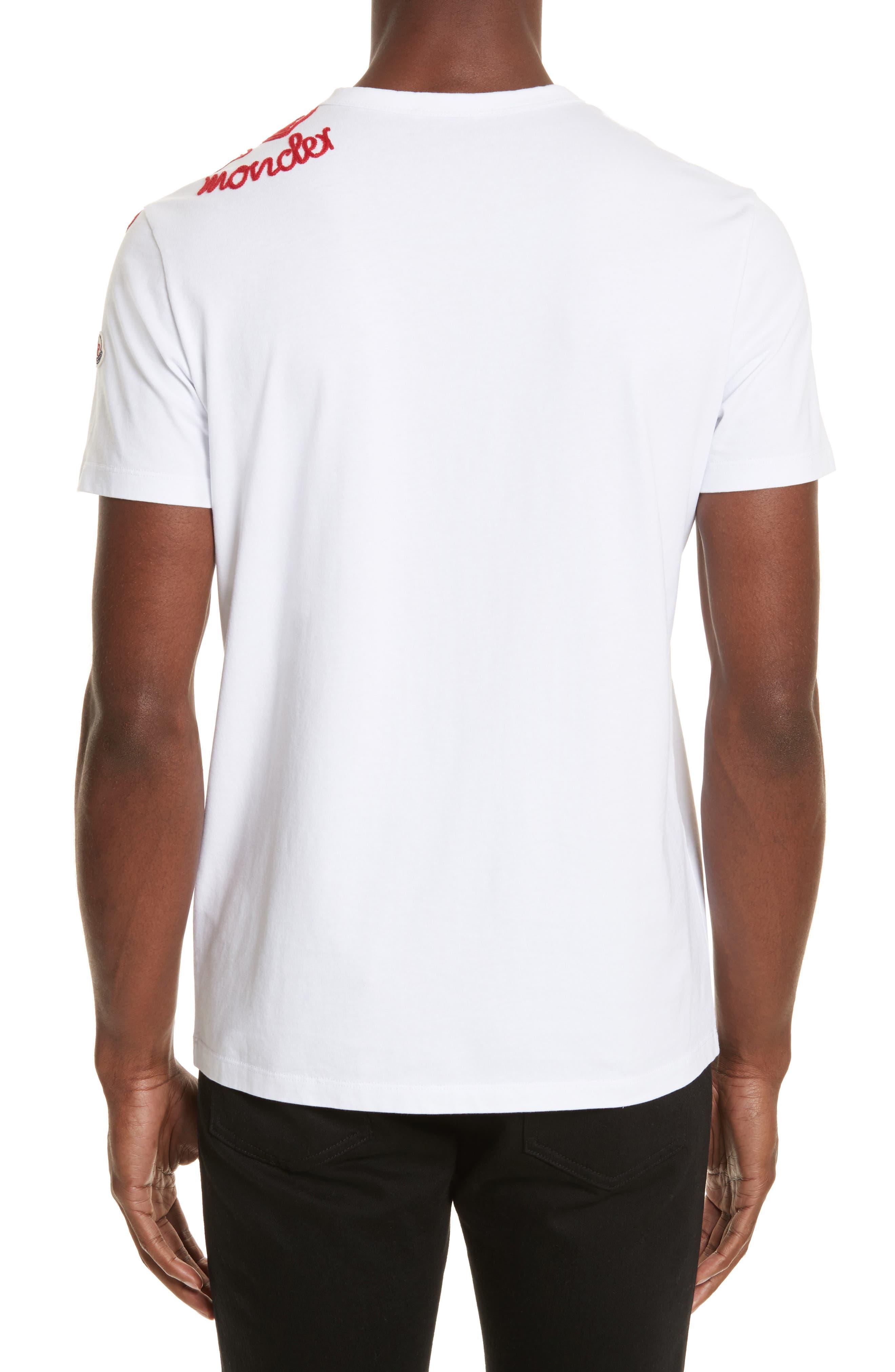 Embroidered Koi Fish T-Shirt,                             Alternate thumbnail 2, color,                             White