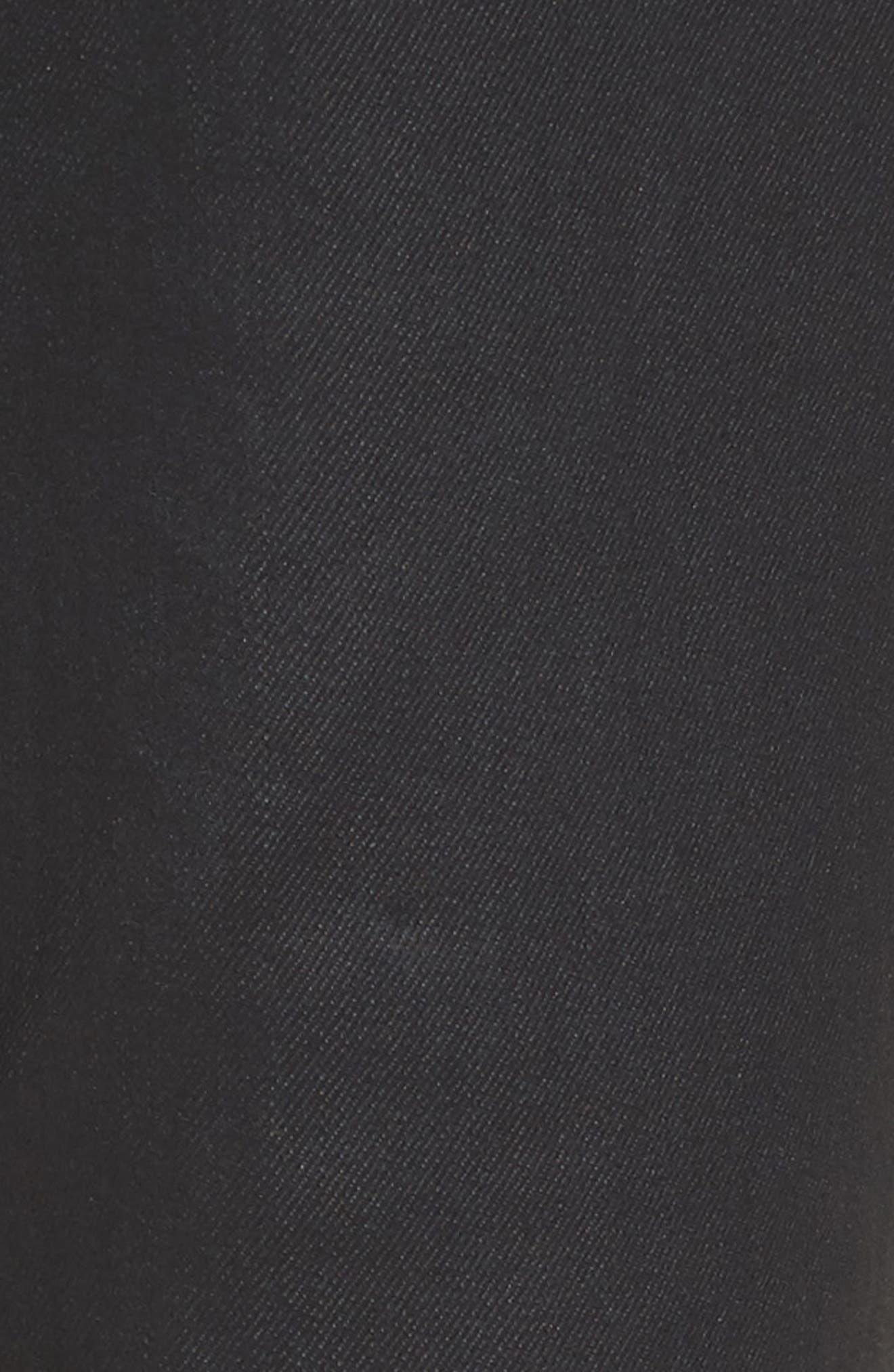 Coated Skinny Jeans,                             Alternate thumbnail 5, color,                             Black