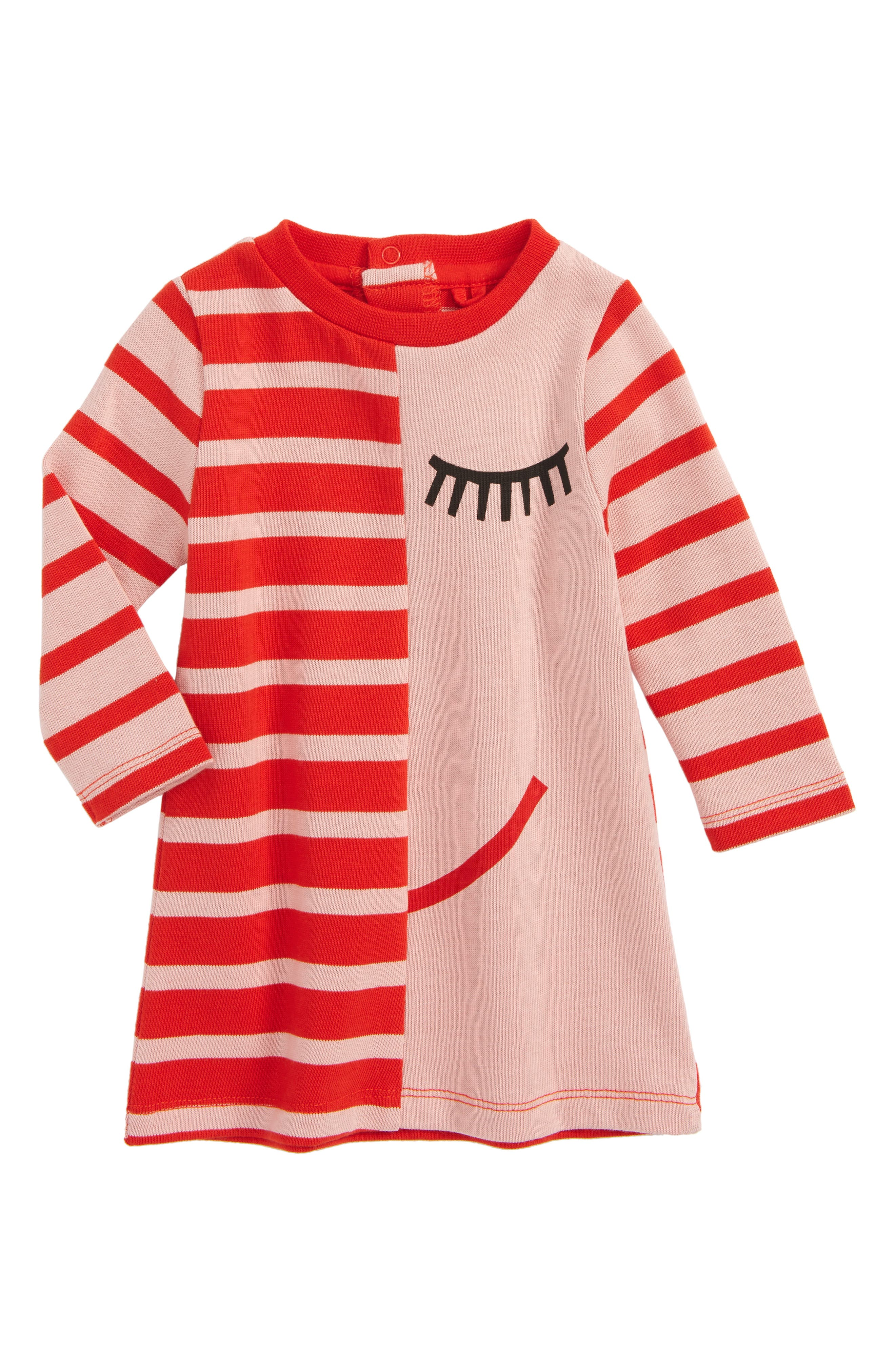Kids Stripe Jersey Dress,                         Main,                         color, Pink