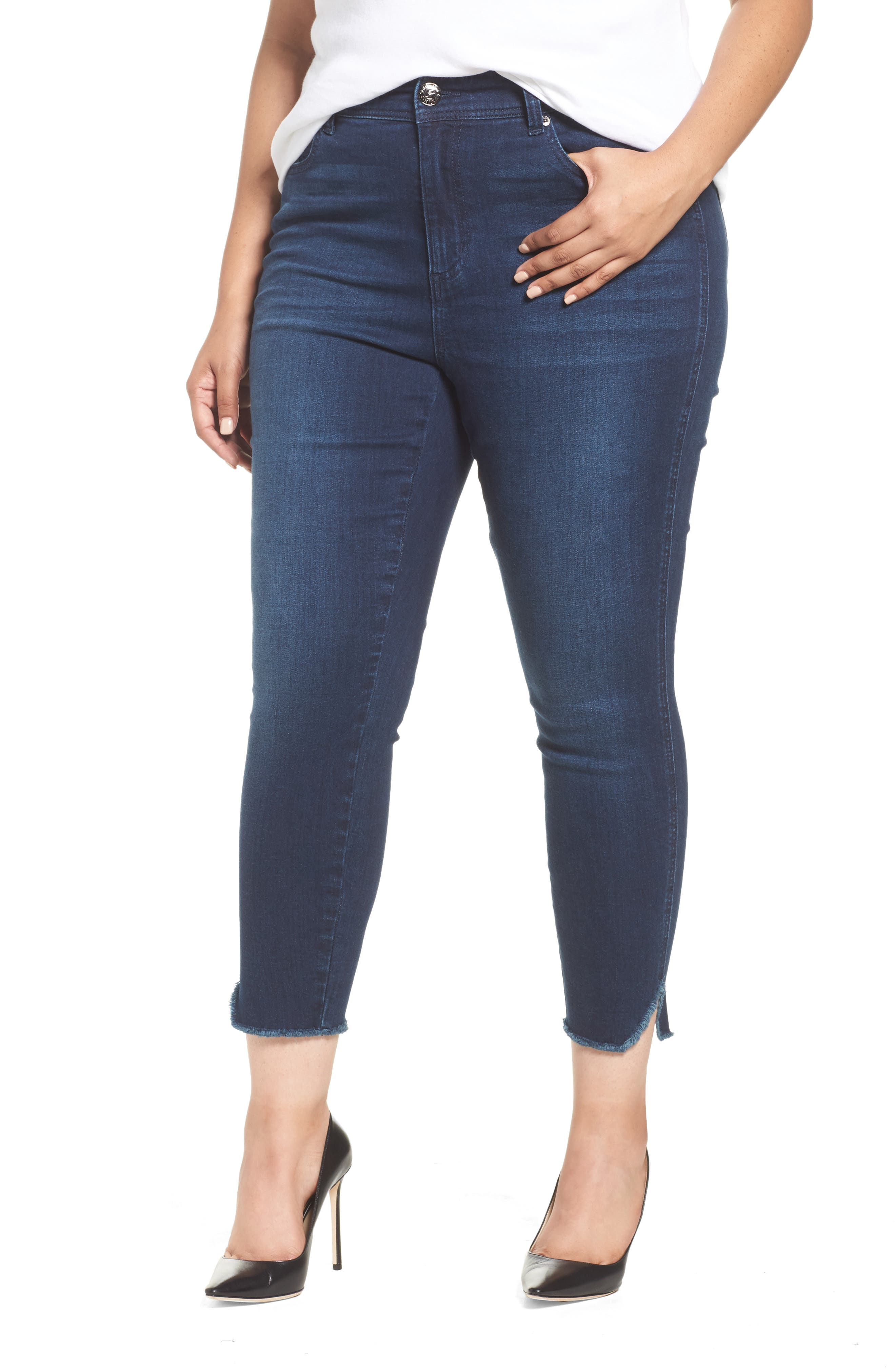 Alternate Image 1 Selected - Seven7 High Waist Ankle Skinny Jeans (Plus Size)