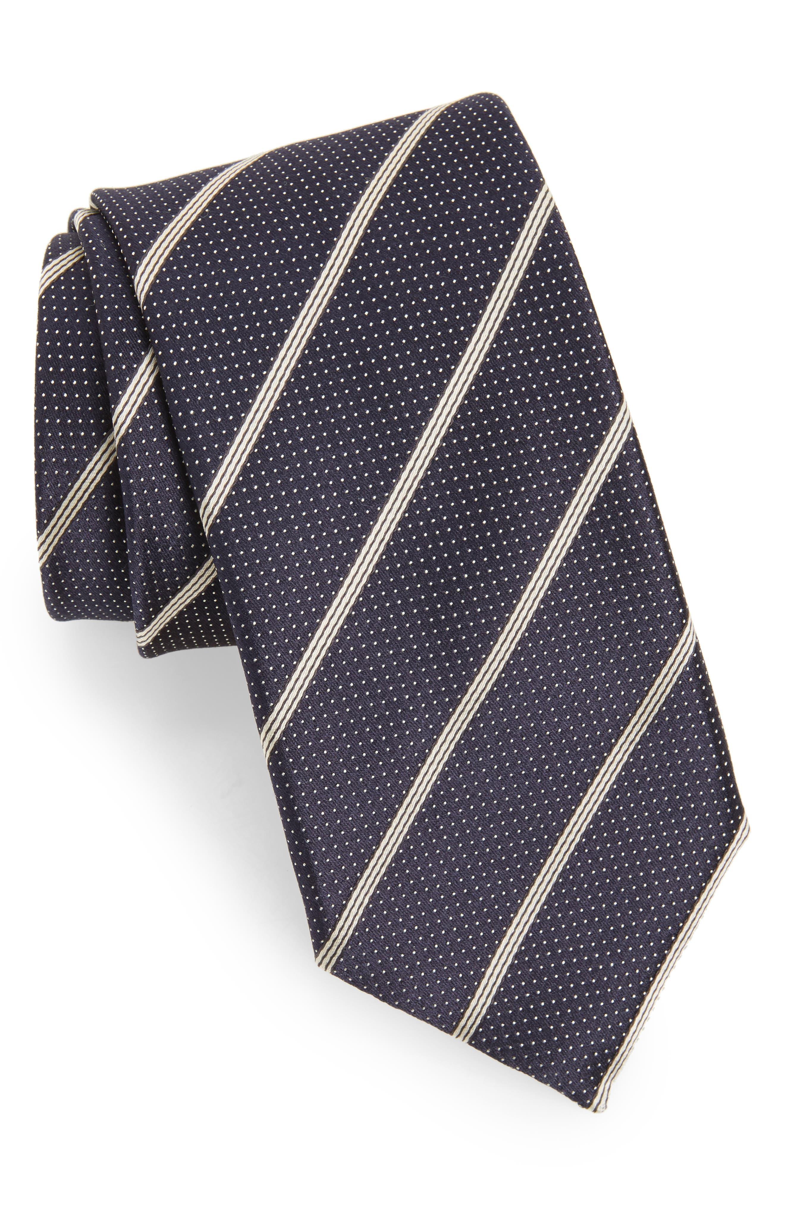 Main Image - Canali Stripe Silk Tie