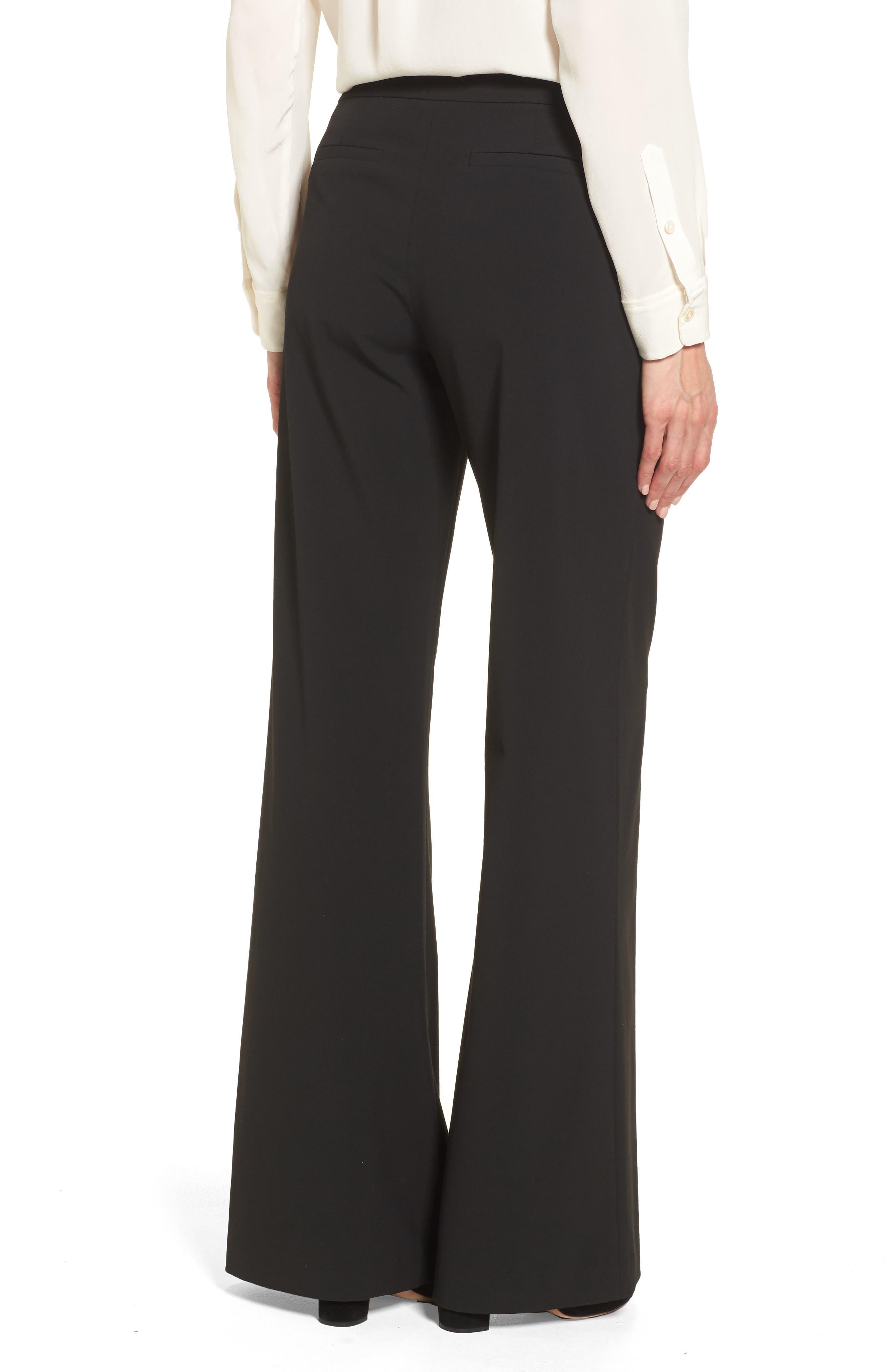 High Waist Wide Leg Pants,                             Alternate thumbnail 2, color,                             Black