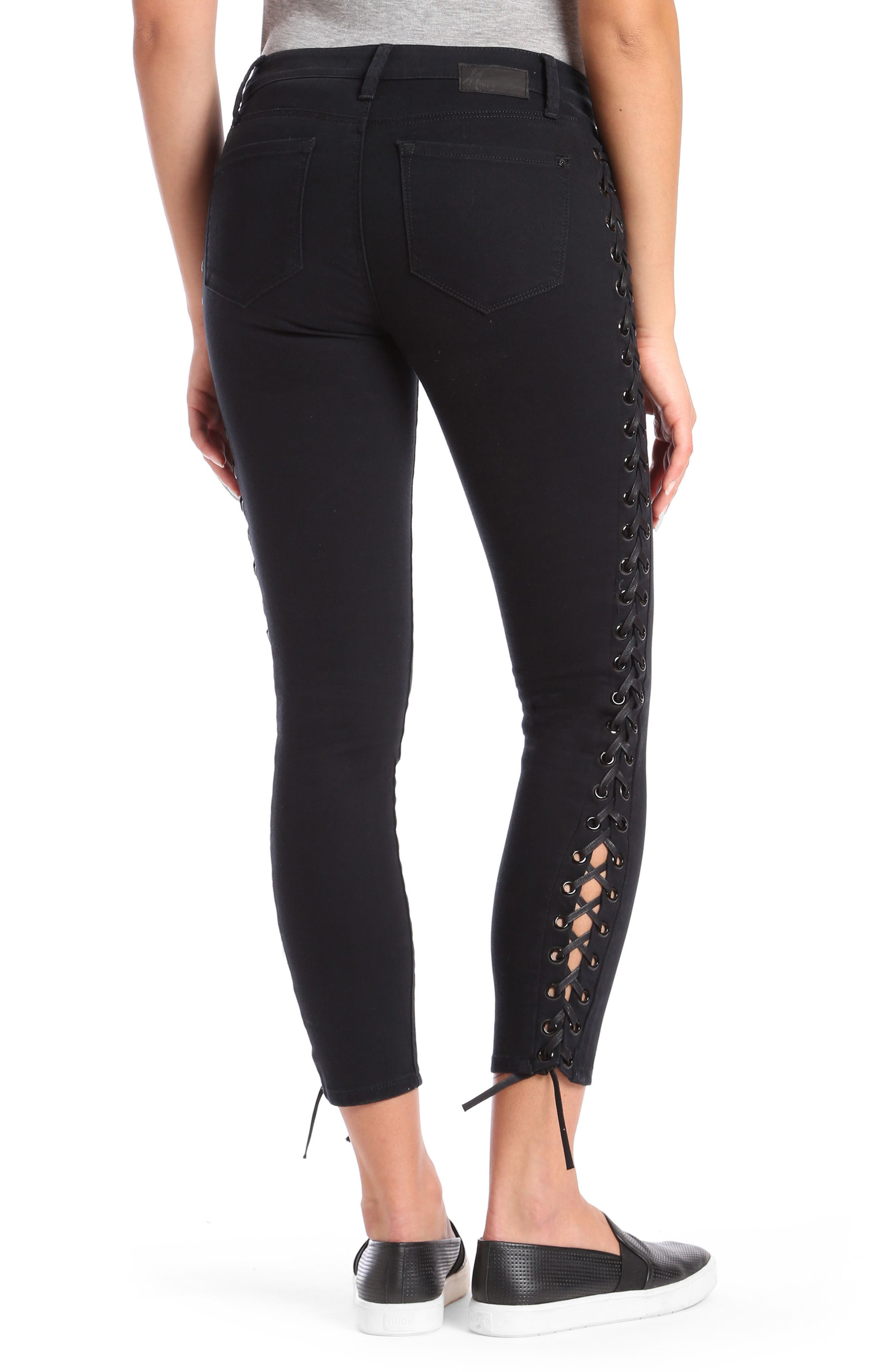 Alternate Image 3  - Mavi Jeans Adriana Lace-Up Super Skinny Jeans