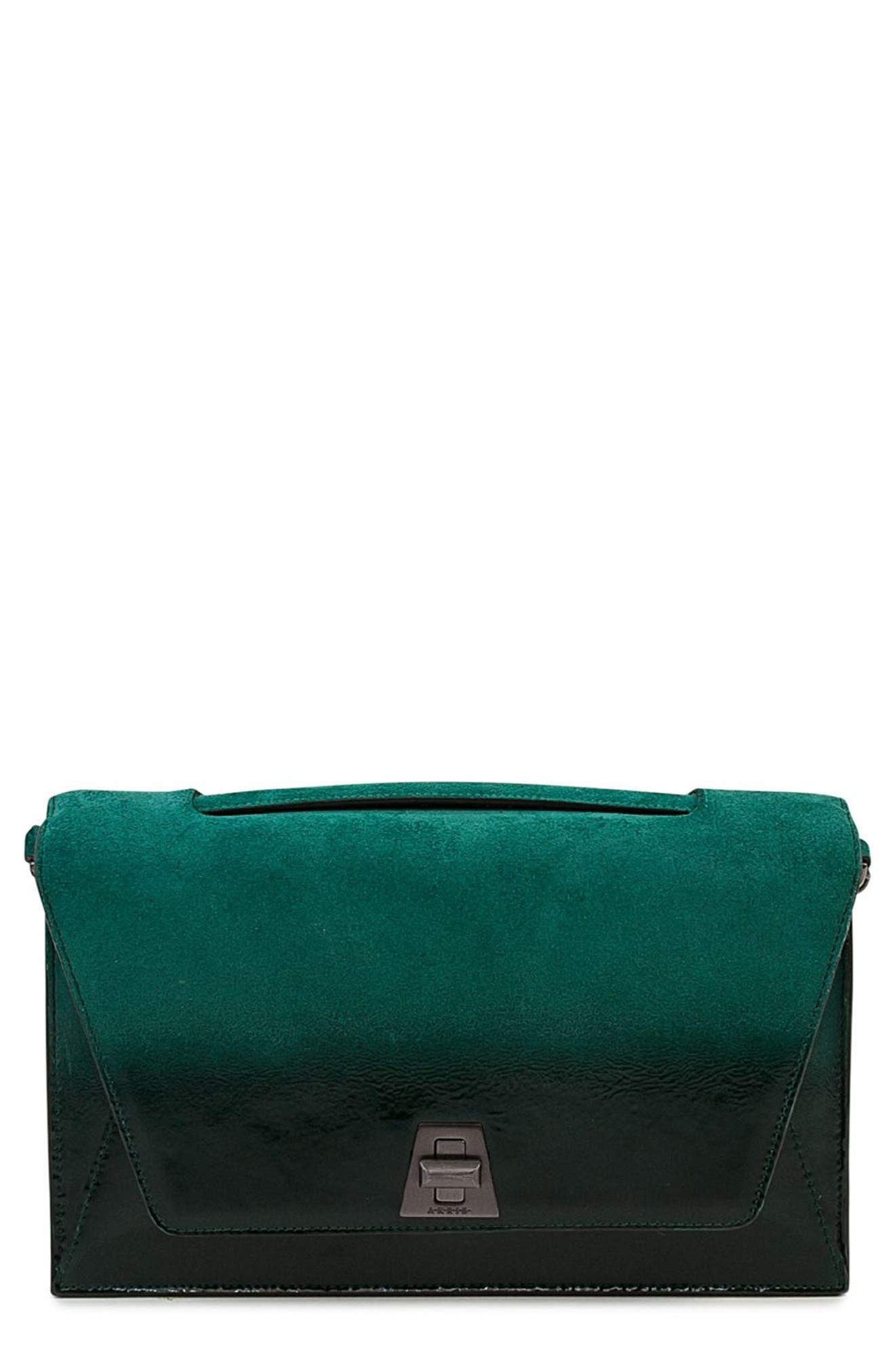 Akris Anouk City Lacquered Leather Crossbody Bag