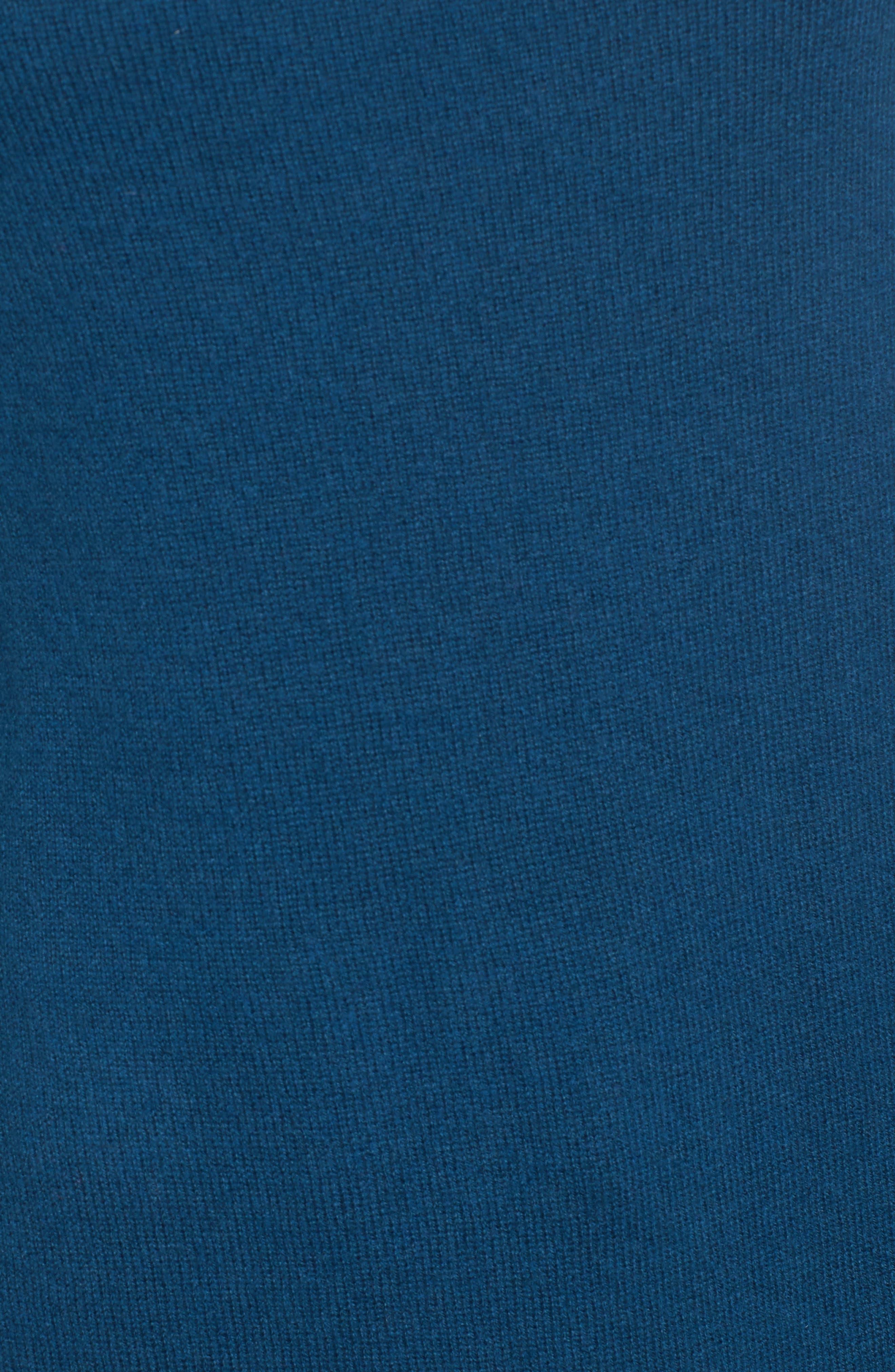 Alternate Image 5  - Halogen® Shirttail Wool & Cashmere Boatneck Tunic (Regular & Petite)