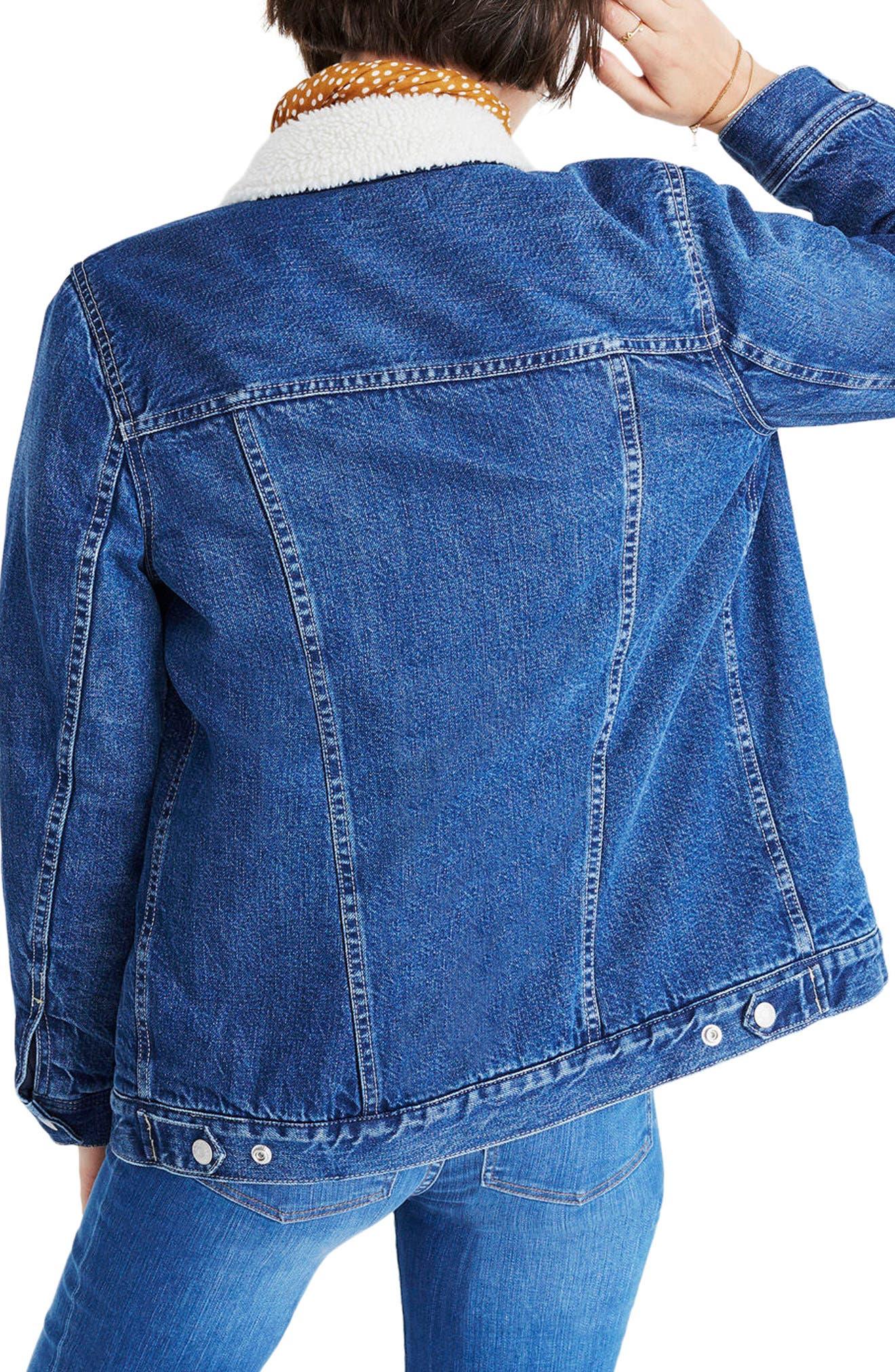 Oversize Jean Jacket,                             Alternate thumbnail 2, color,                             Montrose Wash