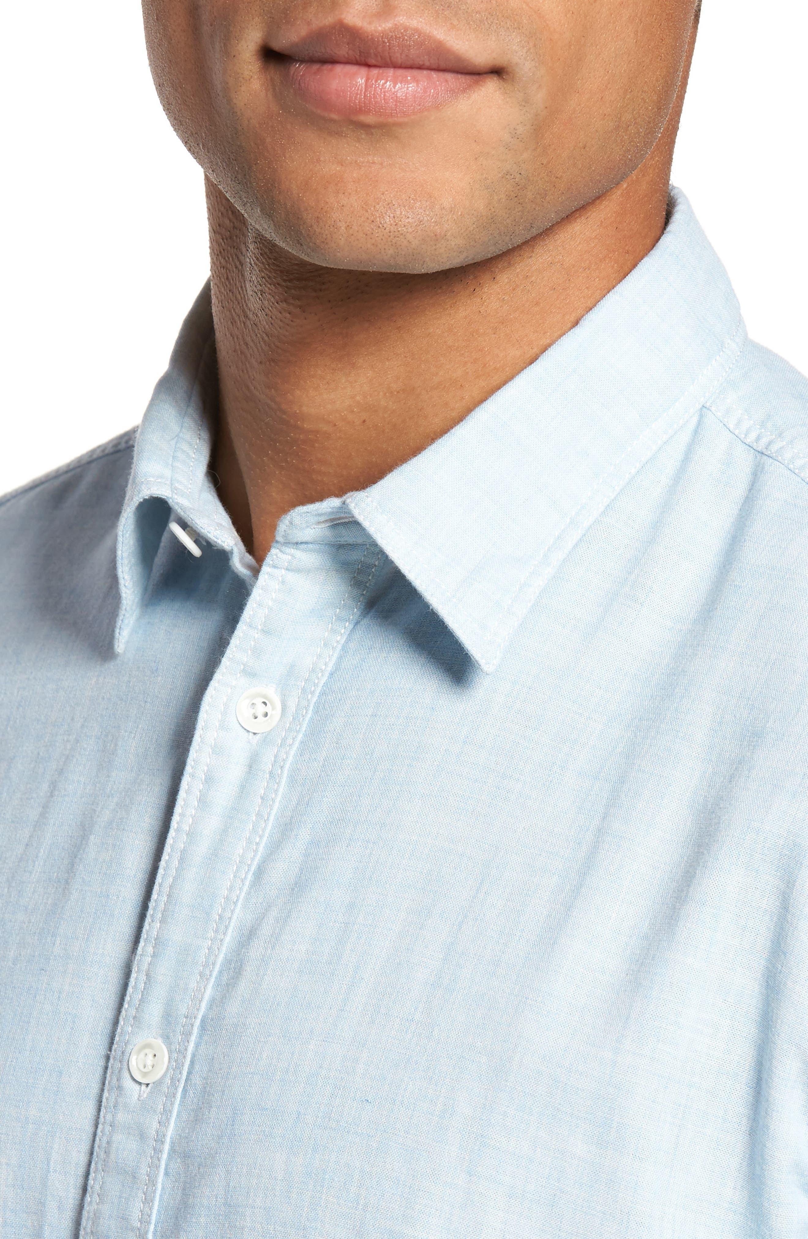 Encinitas Regular Fit Sport Shirt,                             Alternate thumbnail 4, color,                             Sky