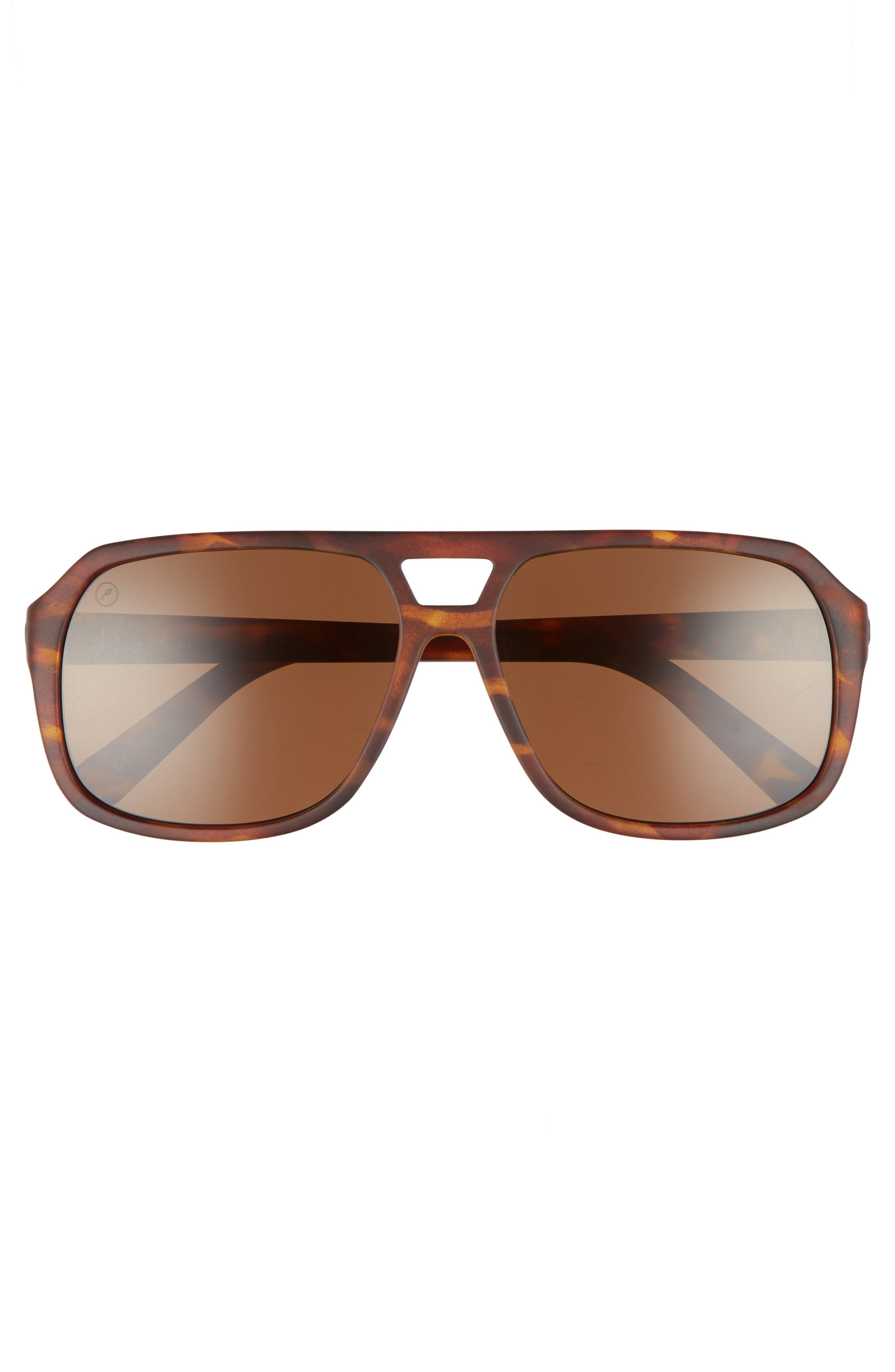 Dude 59mm Polarized Sunglasses,                             Alternate thumbnail 2, color,                             Tortoise/ Bronze Polarized