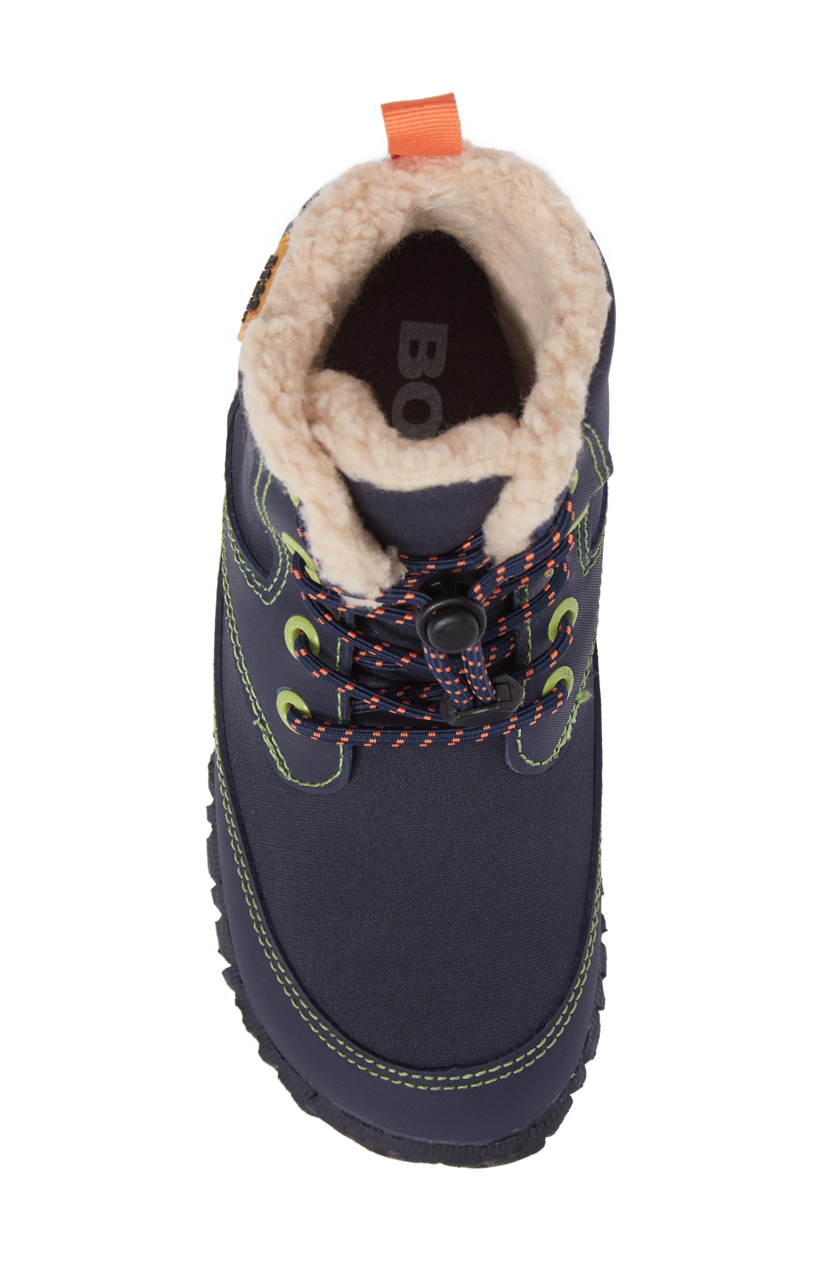 Skyler Faux Fur Insulated Waterproof Boot,                             Alternate thumbnail 5, color,                             Dark Blue Multi