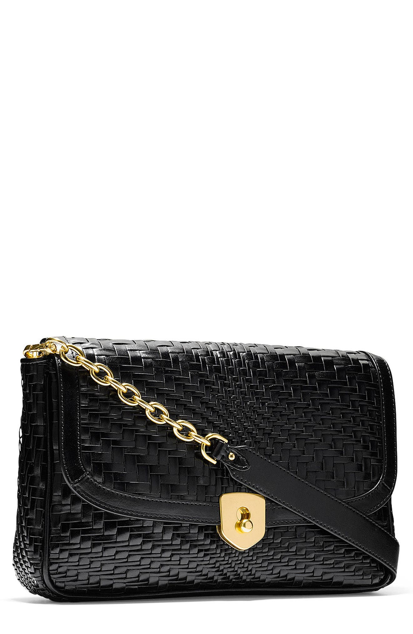 Cole Haan Genevieve Woven Leather Clutch