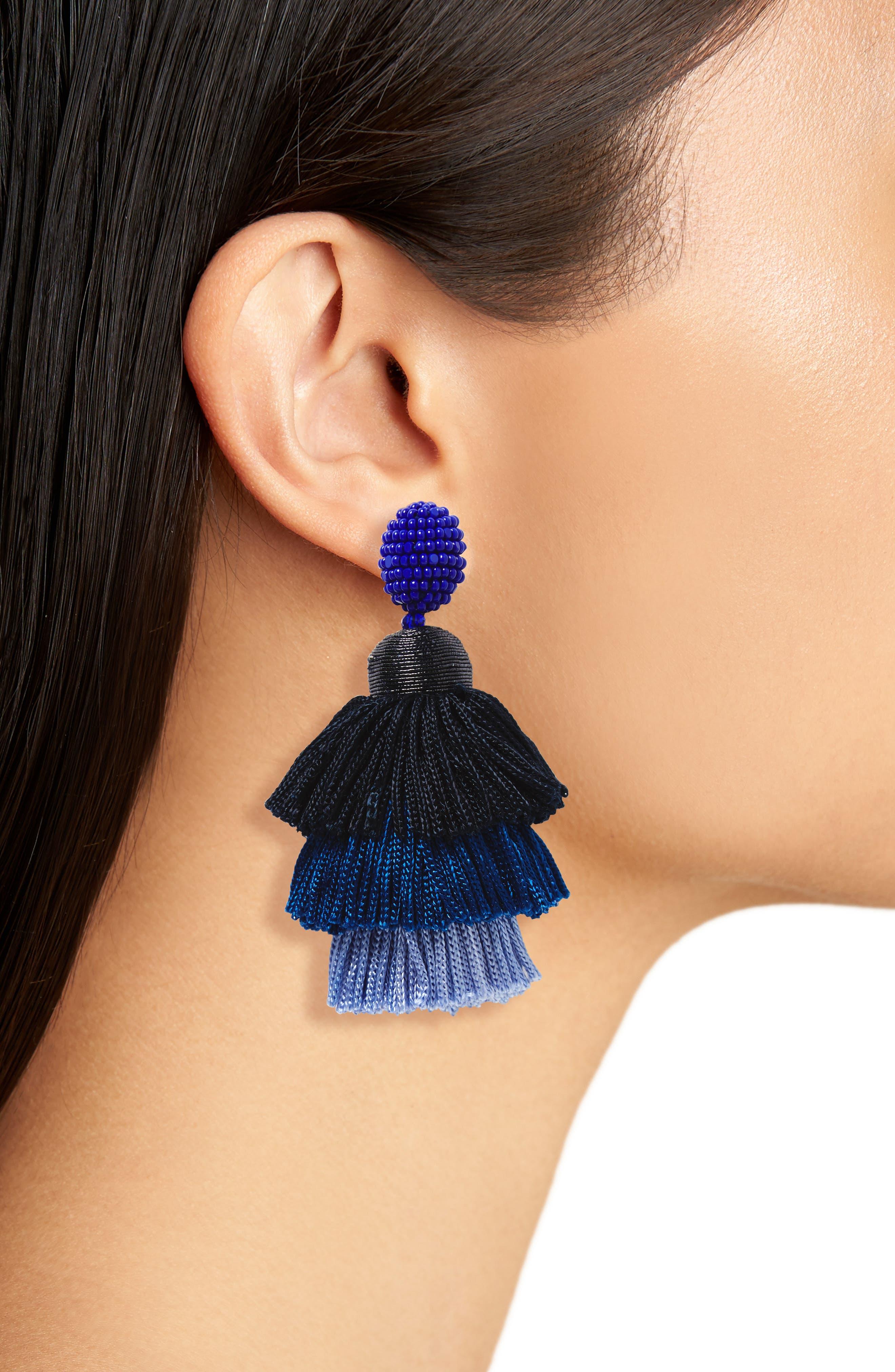 Alternate Image 2  - Oscar de la Renta Tiered Tassel Drop Earrings