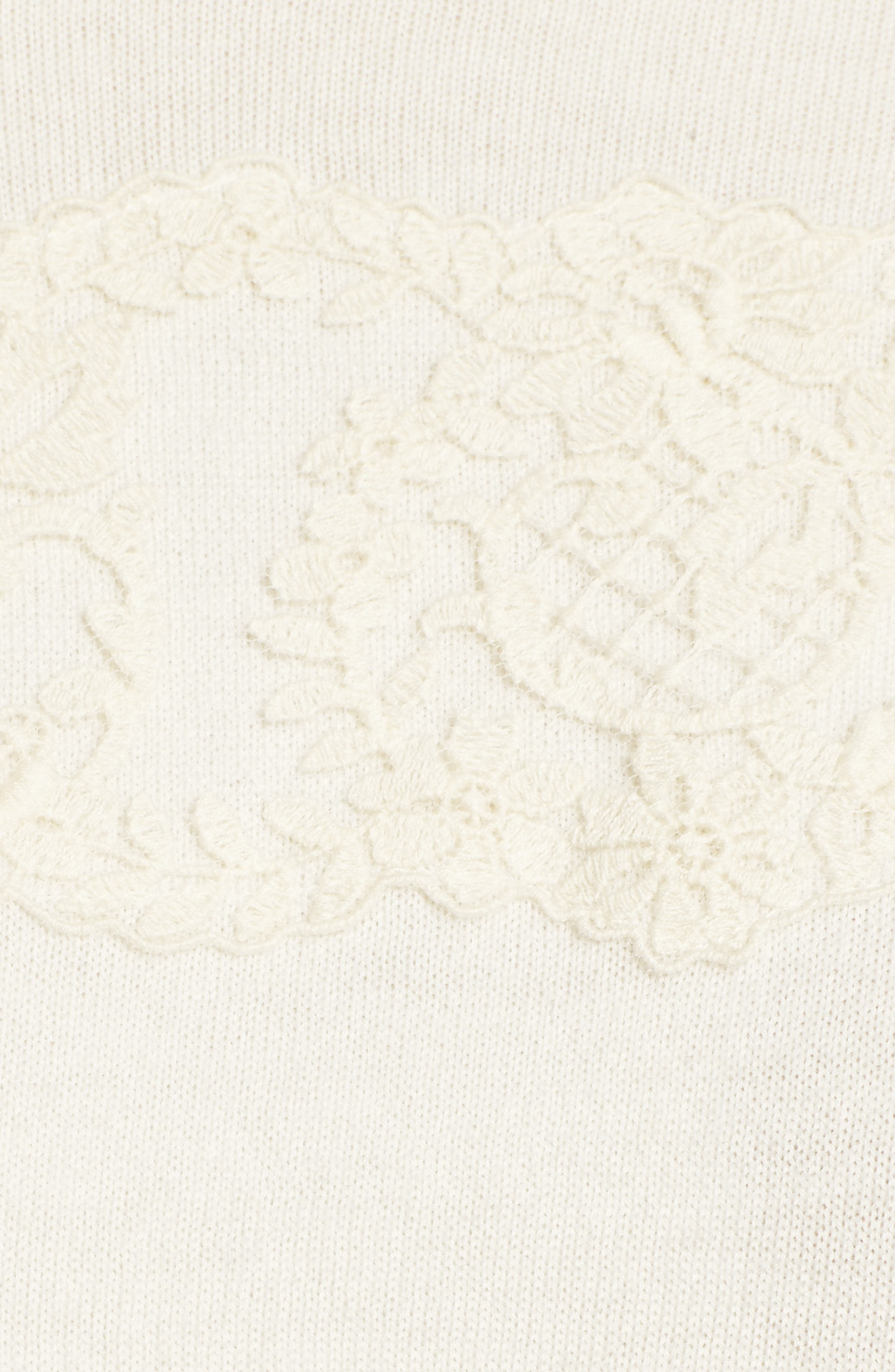 Lace Collar Augusta Sweater,                             Alternate thumbnail 5, color,                             Willow White
