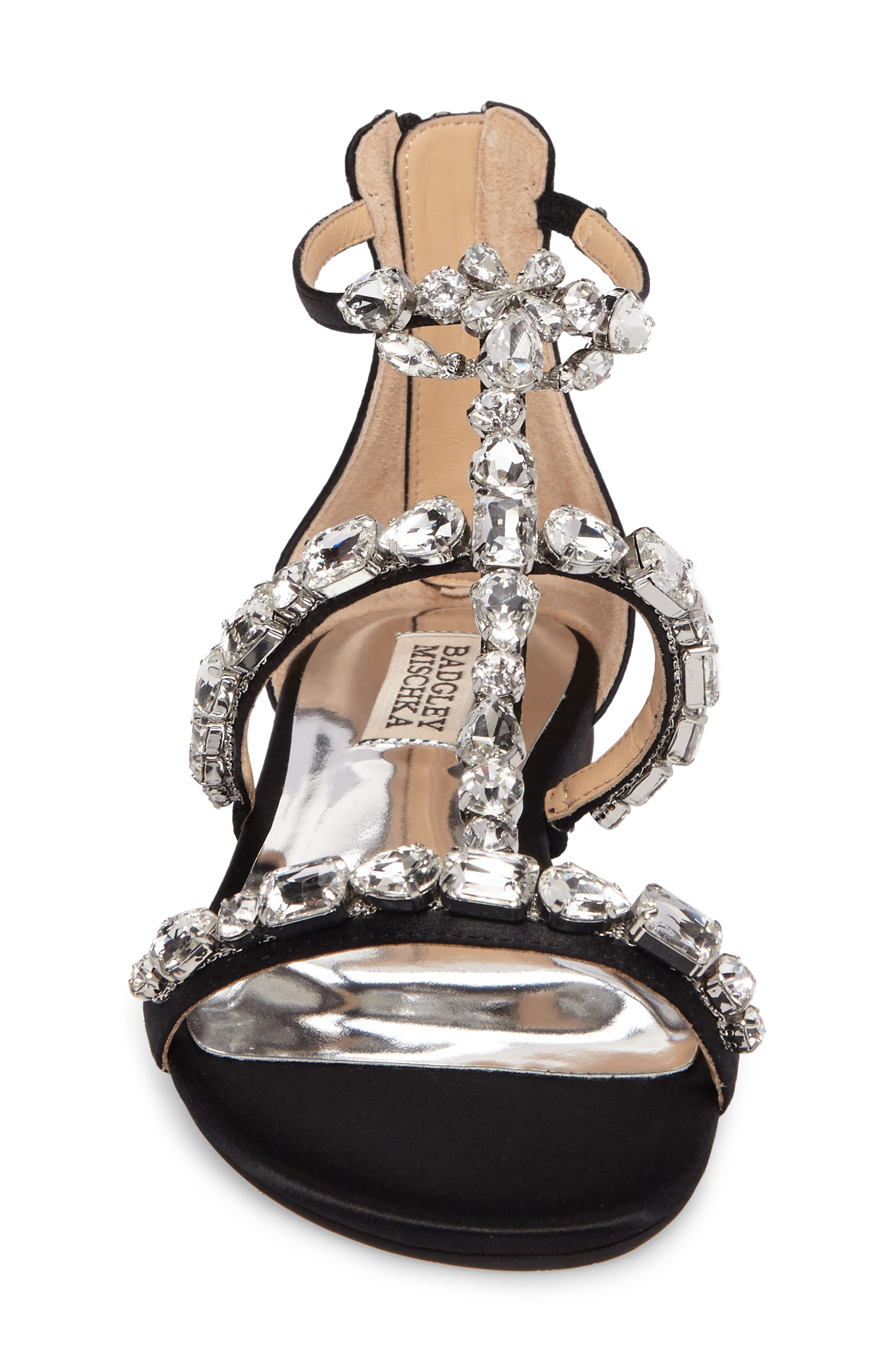 Alternate Image 4  - Badgley Mischka Warren Crystal Embellished Sandal (Women)