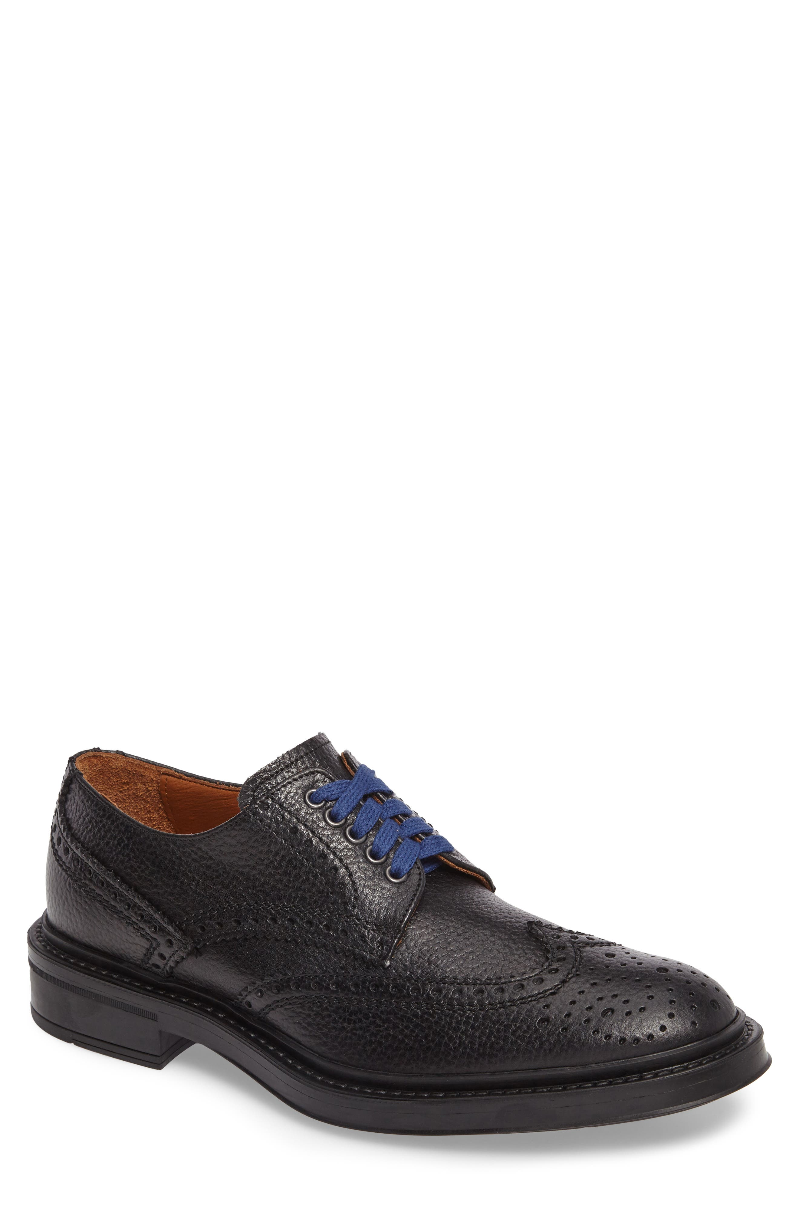 Landon Weatherproof Wingtip,                             Main thumbnail 1, color,                             Black