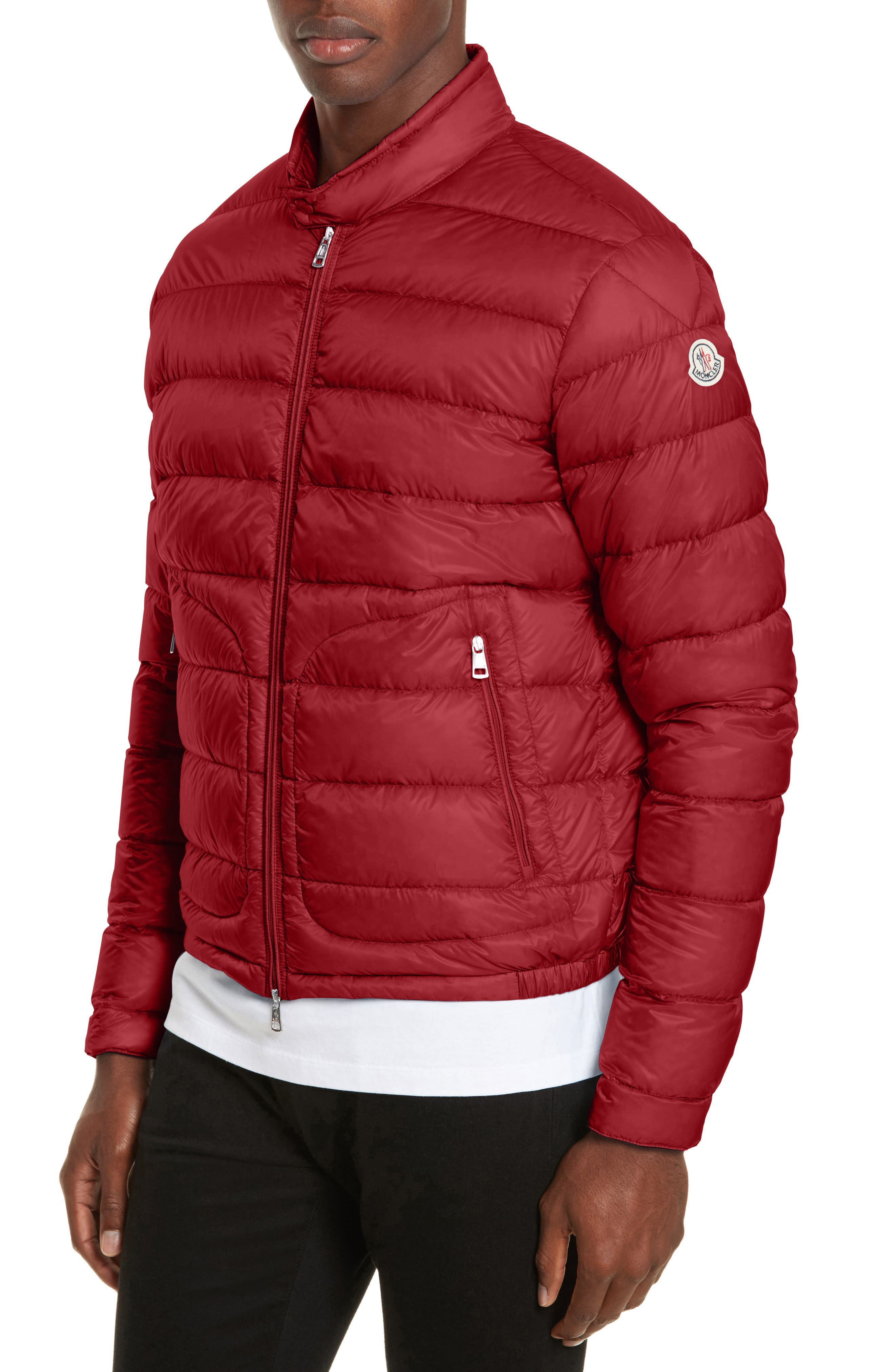 Acorus Down Quilted Jacket,                             Alternate thumbnail 4, color,                             Dark Red