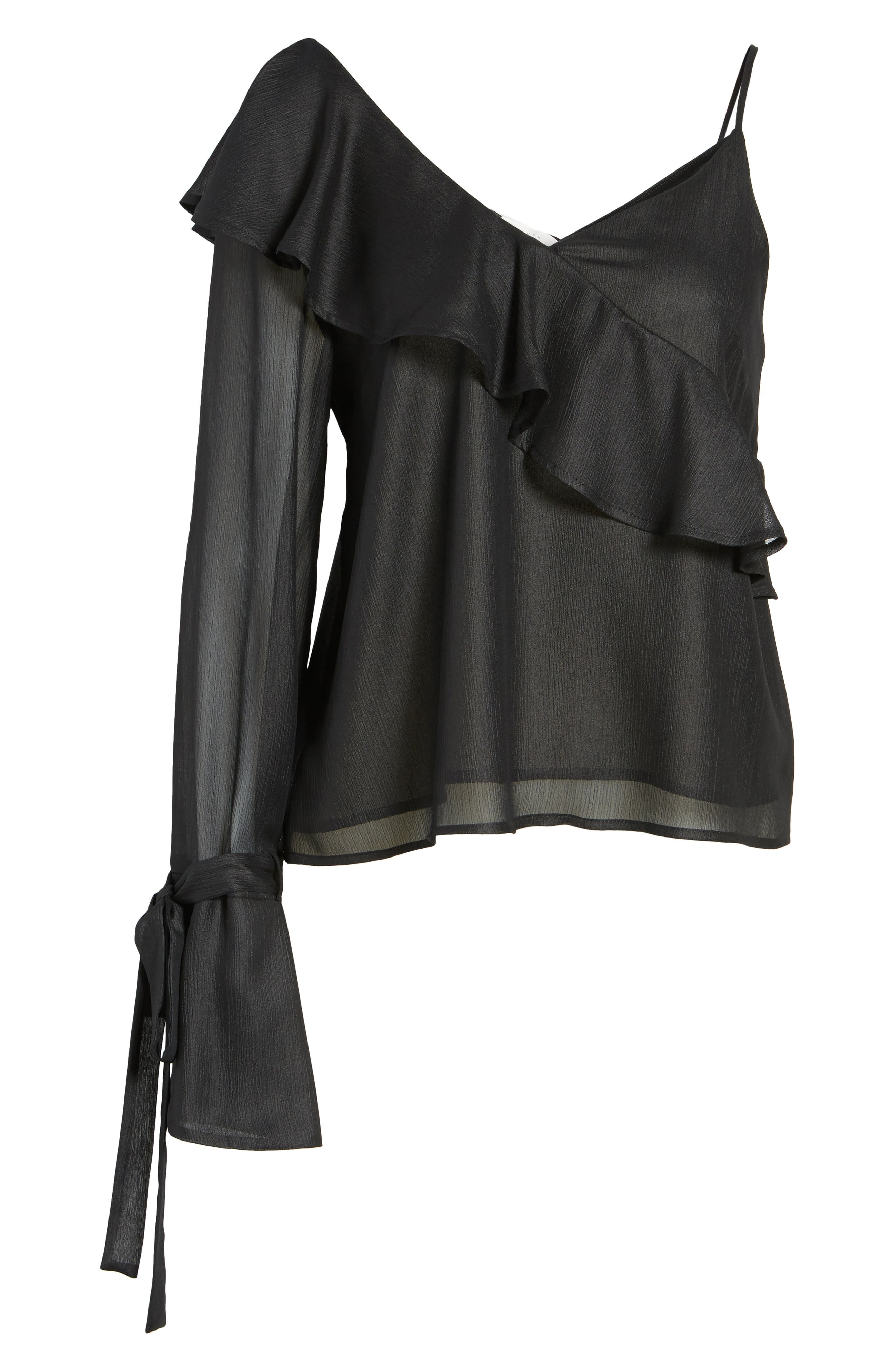 Alternate Image 6  - Ruffle One-Shoulder Blouse