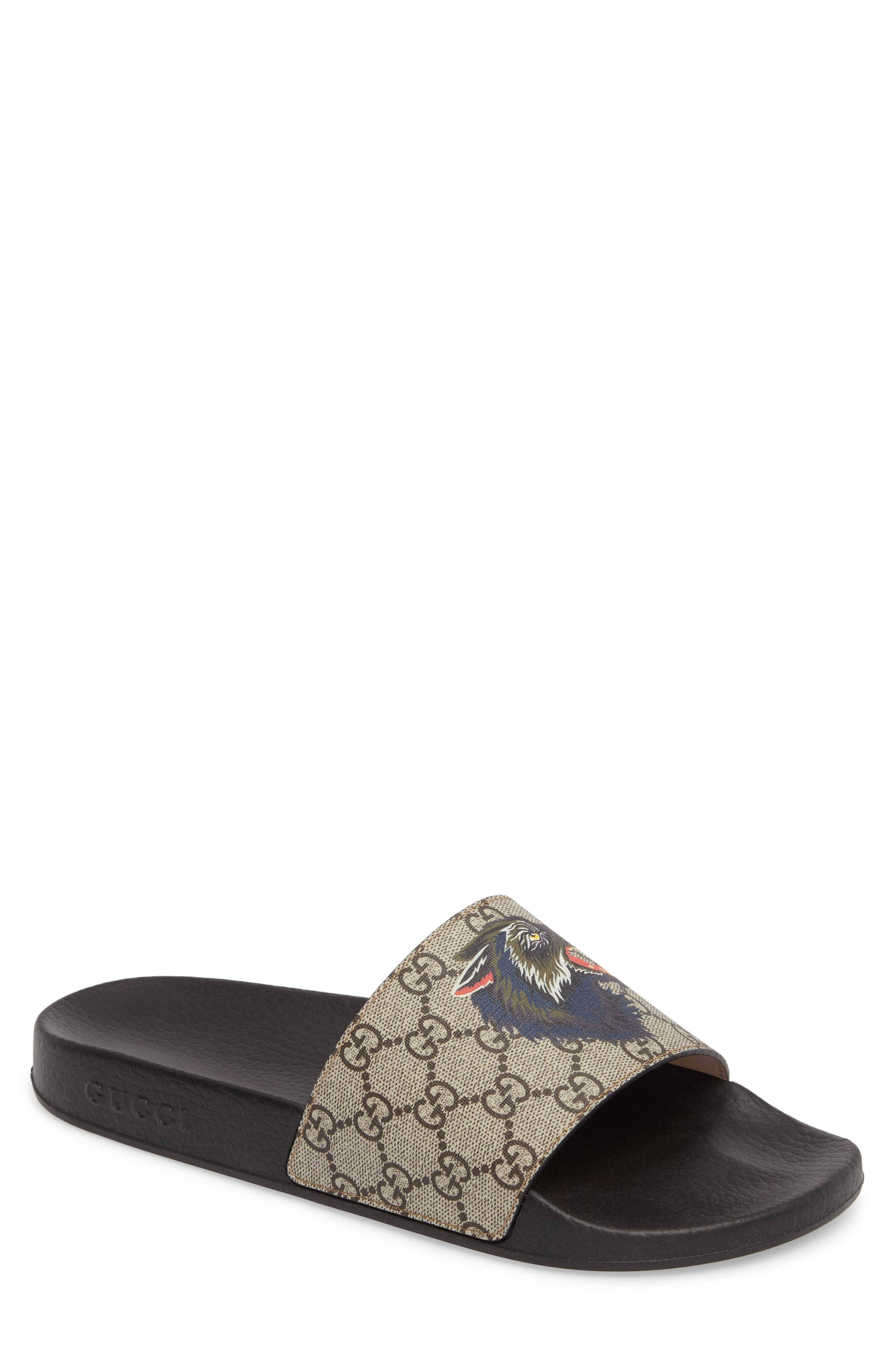 Alternate Image 1 Selected - Gucci Pursuit Angry Wolf Slide Sandal (Men)