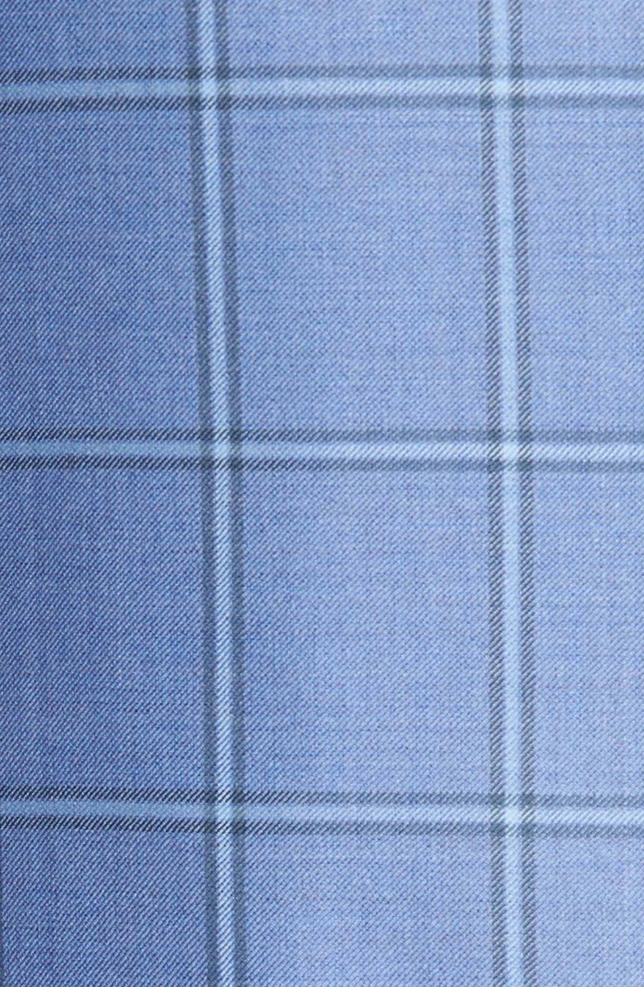 Classic Fit Windowpane Wool Sport Coat,                             Alternate thumbnail 5, color,                             Light Blue